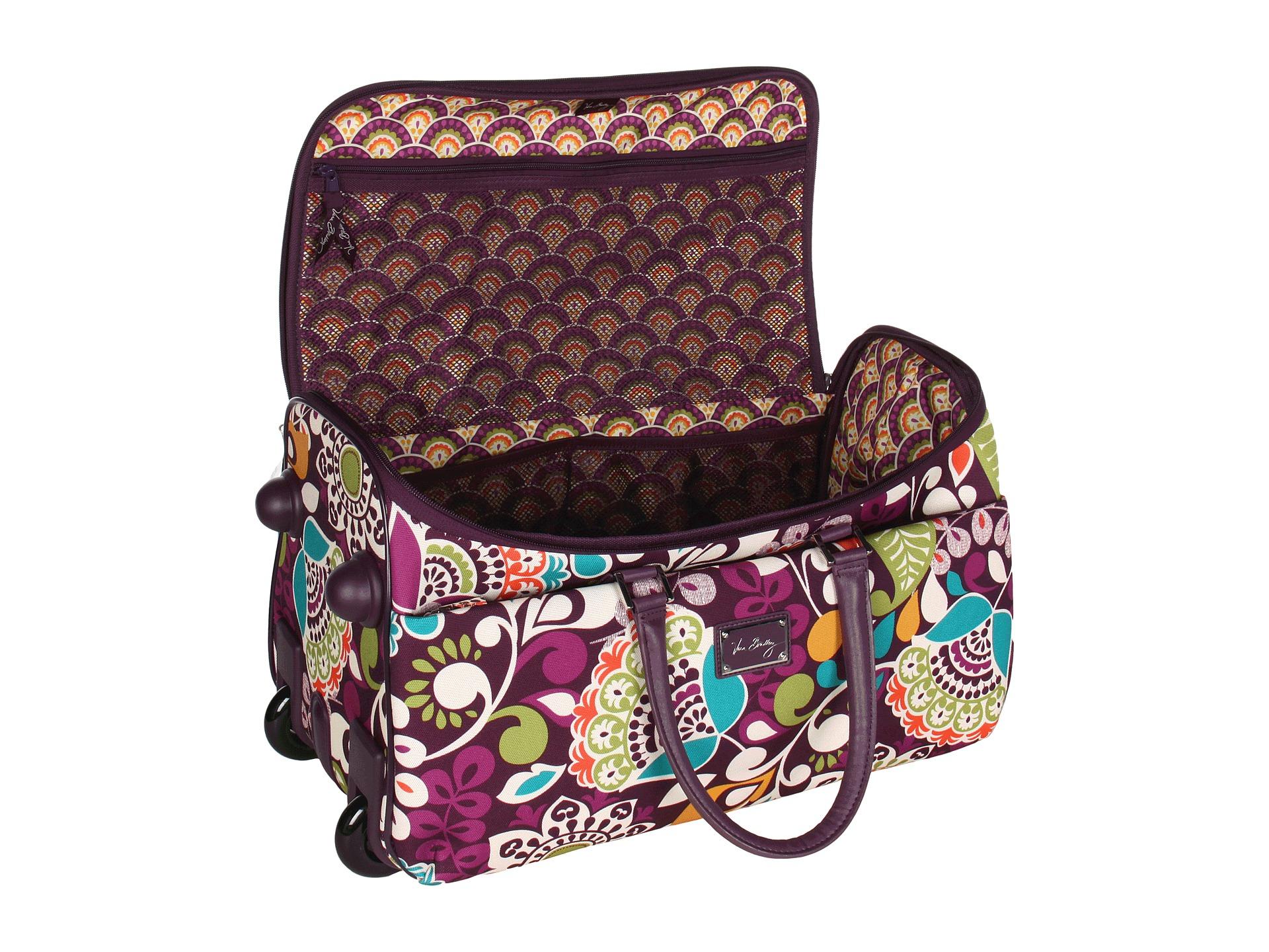 Vera Bradley Luggage 22 Rolling Duffel In Purple Lyst