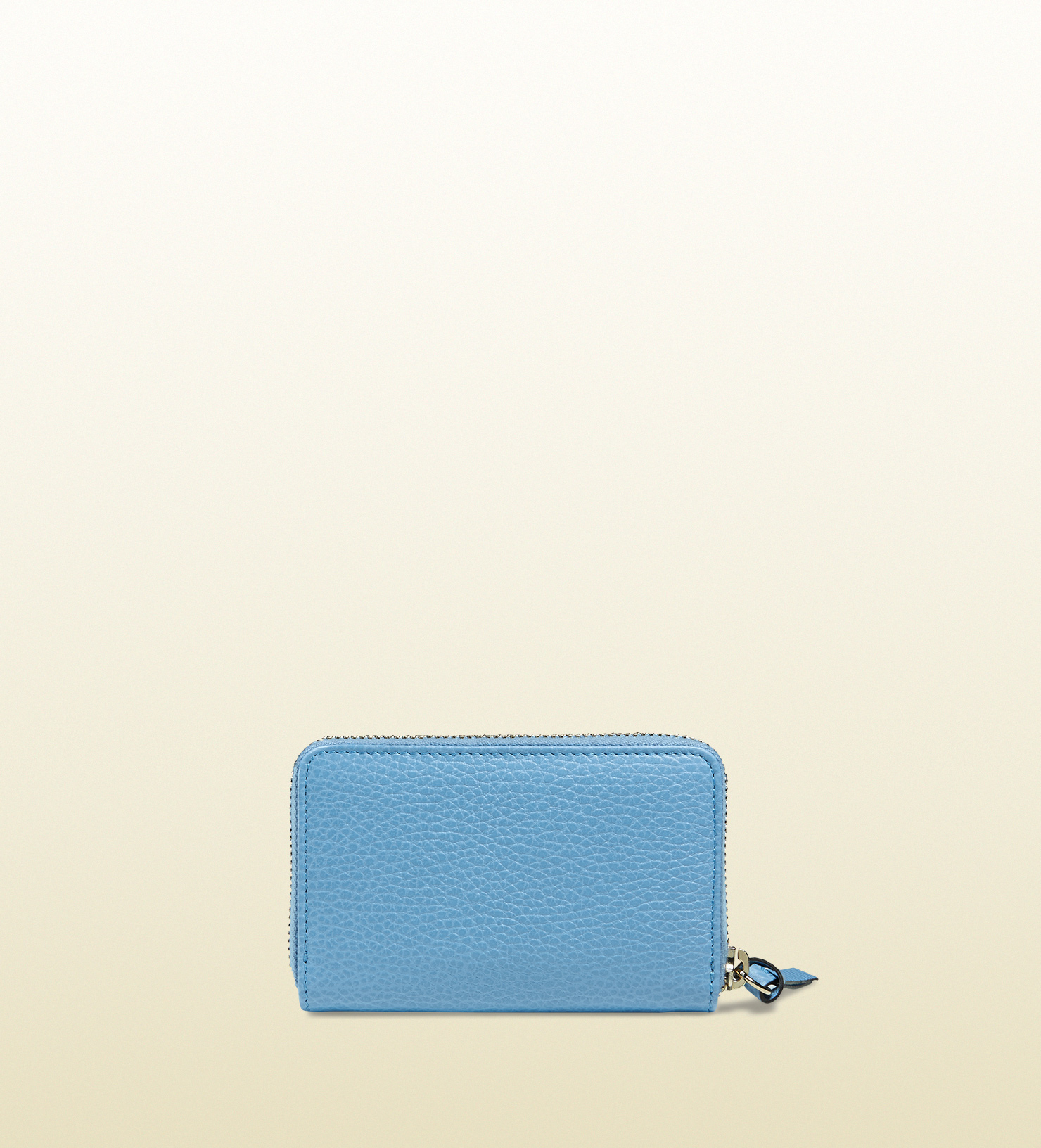8147144edb6e Lyst - Gucci Swing Leather Zip Card Case in Blue
