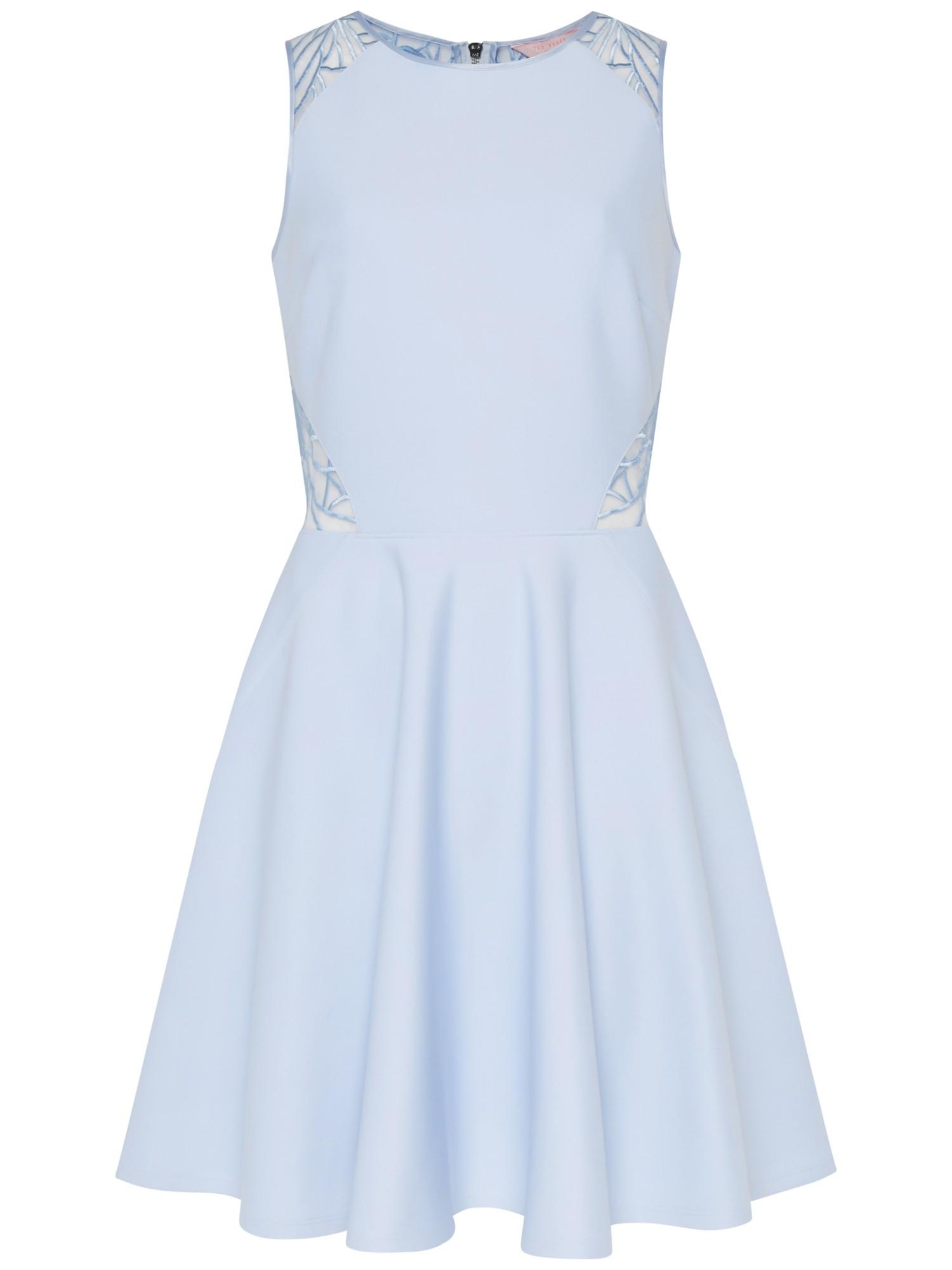 f3fba3d6f9e21b Ted Baker Venma Lace Detail Skater Dress in Blue - Lyst