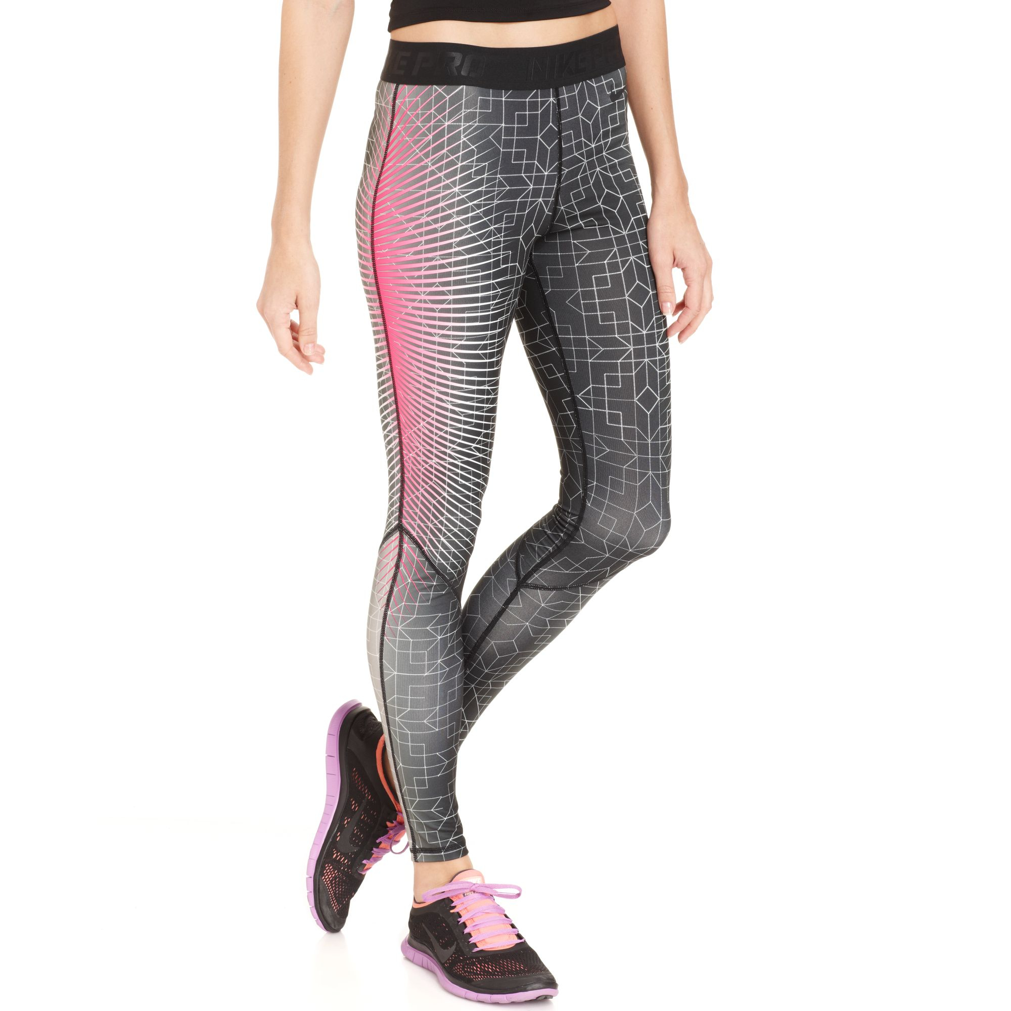 e9ed5f21d9f4b Nike Printed Leggings in Pink - Lyst