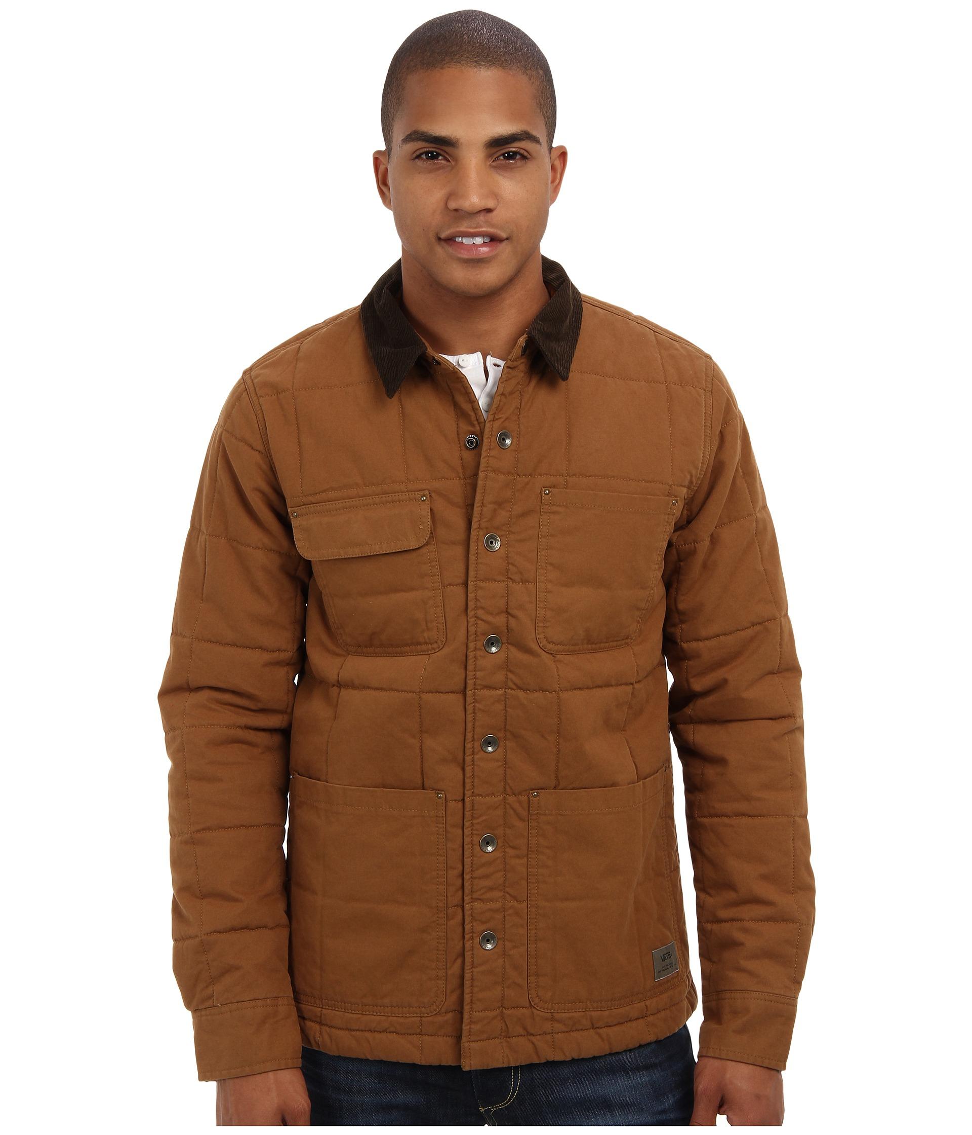 Vans Barka Jacket In Brown For Men (Rubber) | Lyst