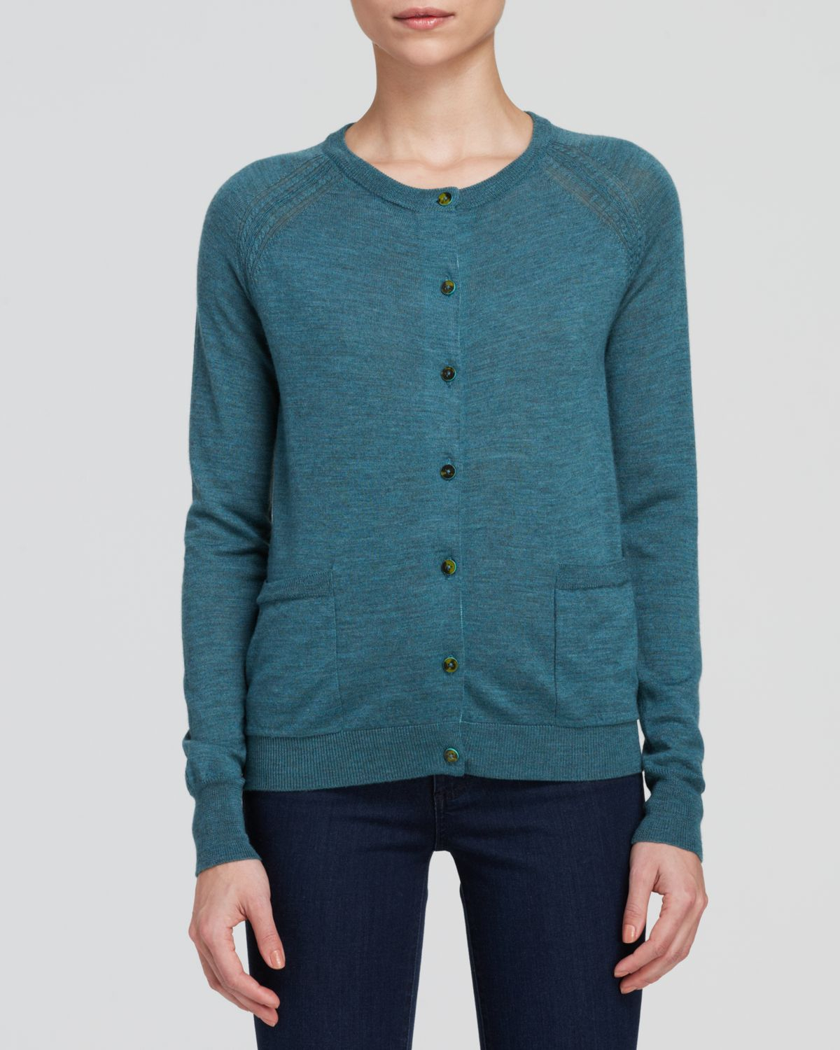 Marc by marc jacobs Cardigan - Grayson Merino Wool in Green | Lyst