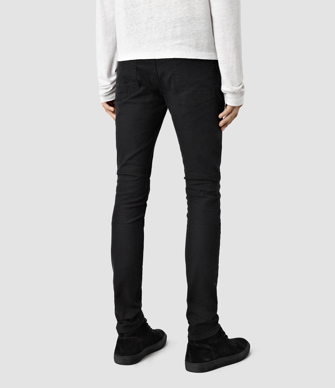 AllSaints Hoxley Wilkins Cigarette Jeans in Black for Men