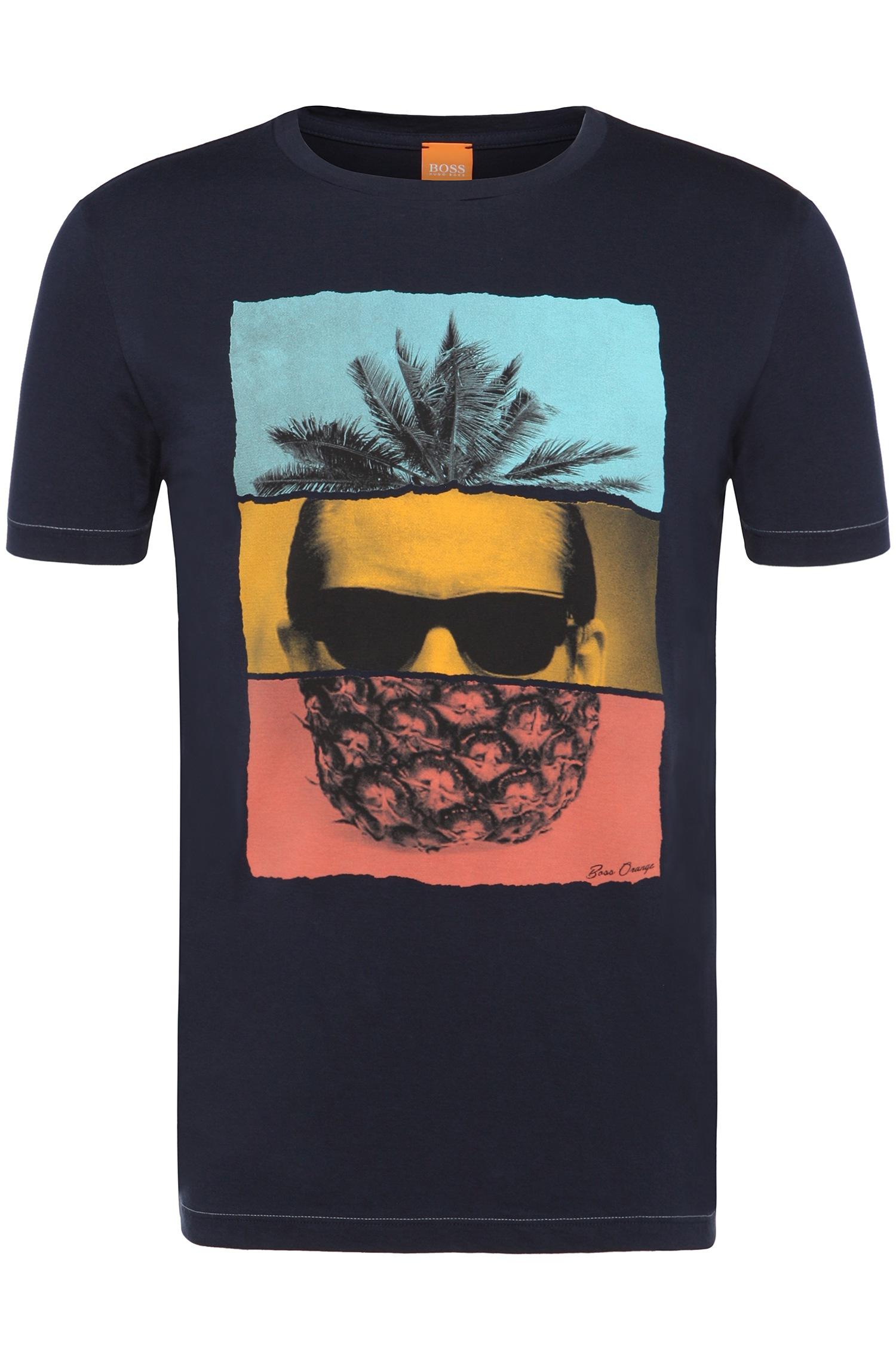 'towney'Cotton Blue Pineapple T Shirt Men's qpUjGSzVLM