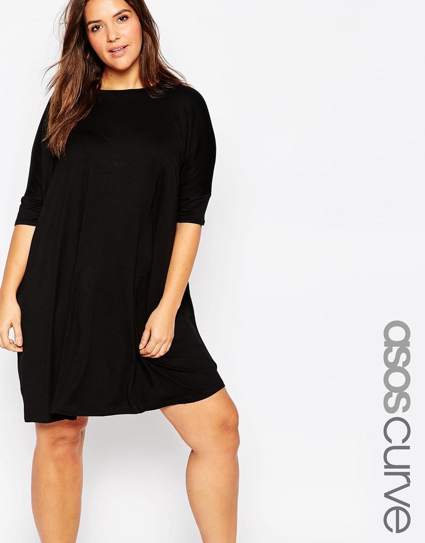 d9062afe767 Lyst - ASOS The T-shirt Dress in Black