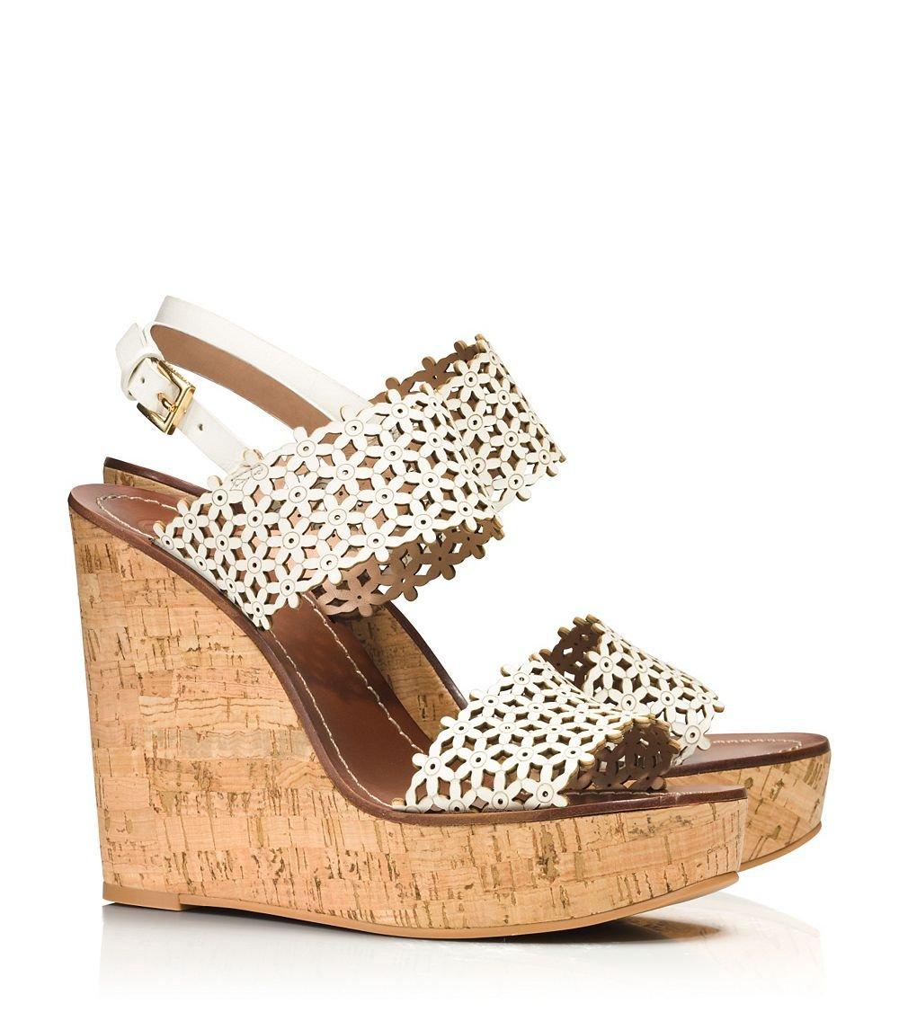 Tory burch sandals in white lyst gallery womens white platform wedges mightylinksfo