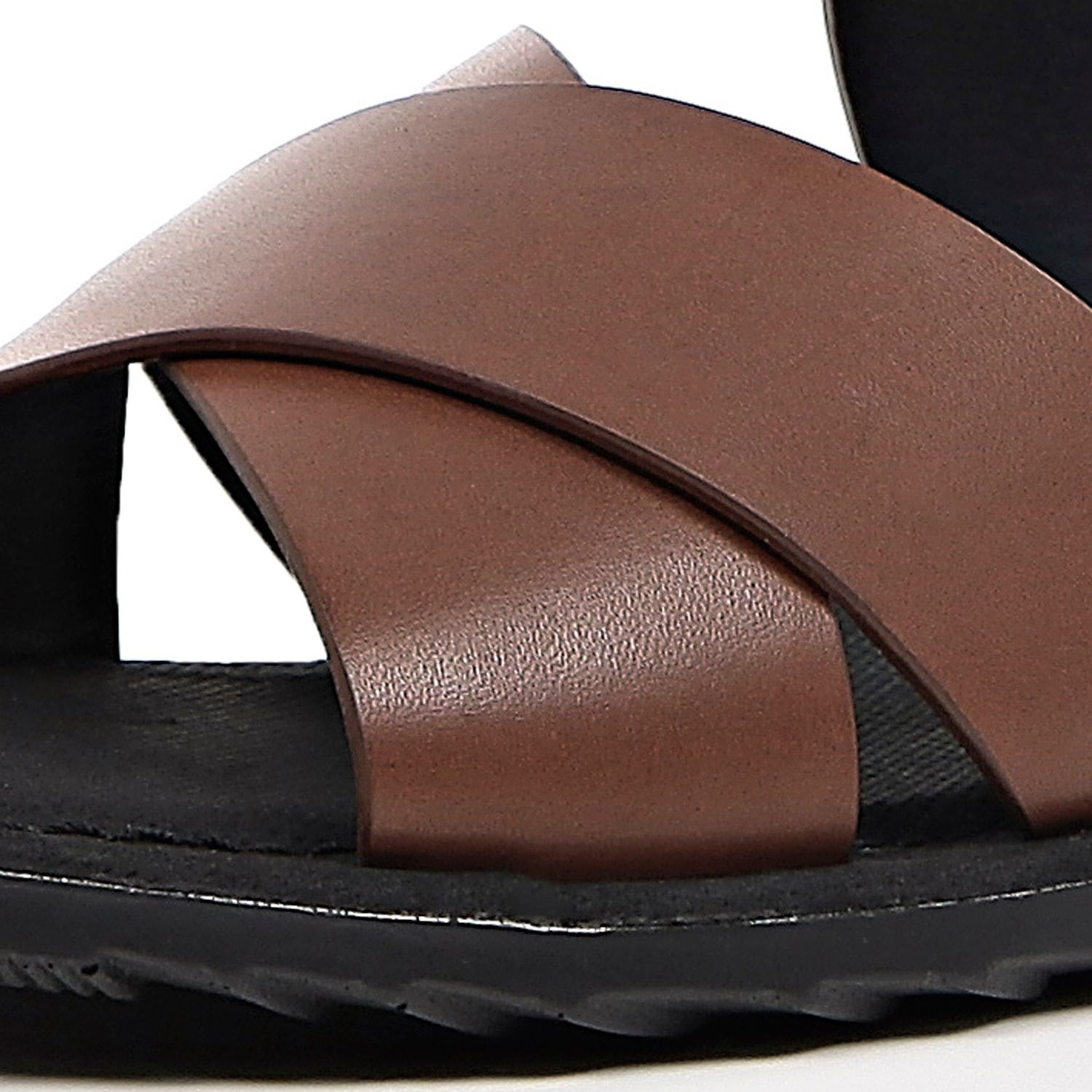 b1d7e67b3ddb River Island Brown Back Strap Sandals in Brown for Men - Lyst