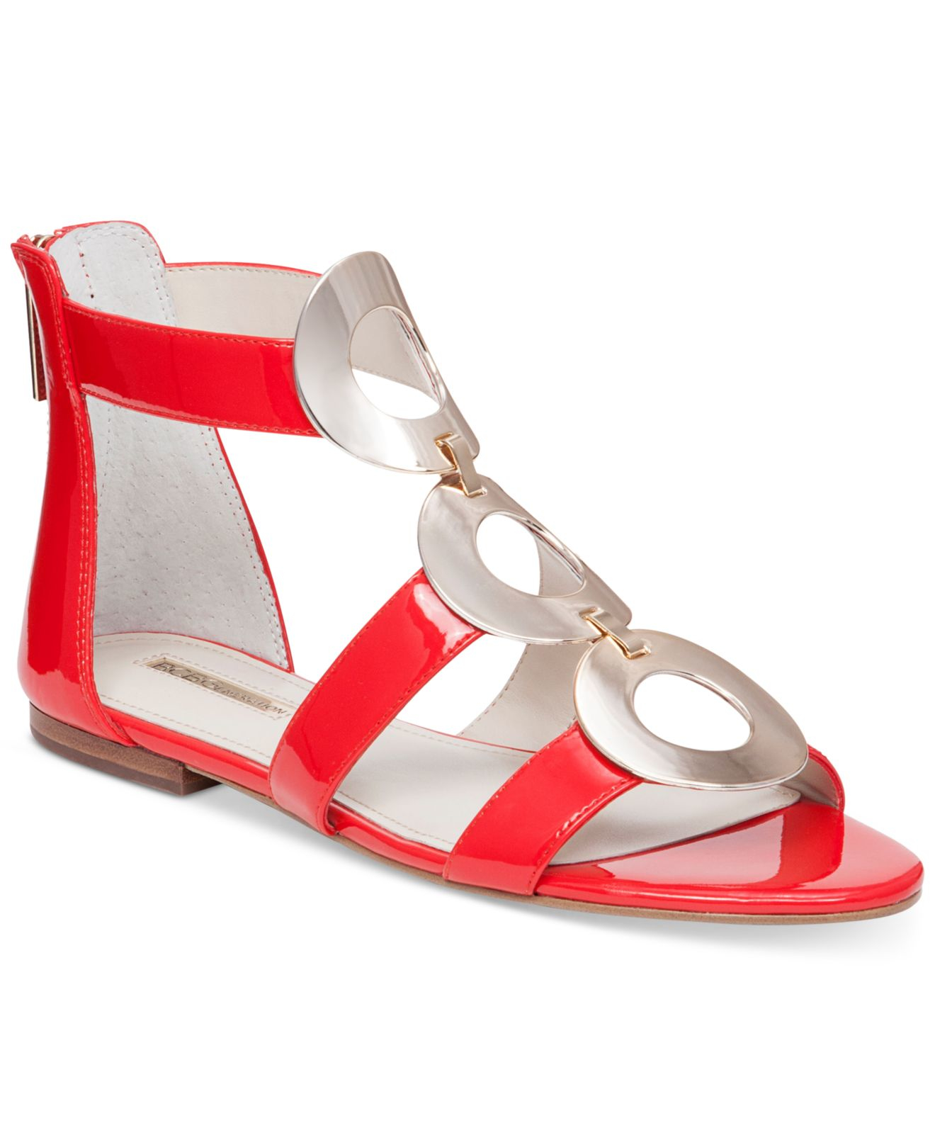 19a2ad38a04 Lyst - BCBGeneration Faroh Embellished Flat Sandals in Red