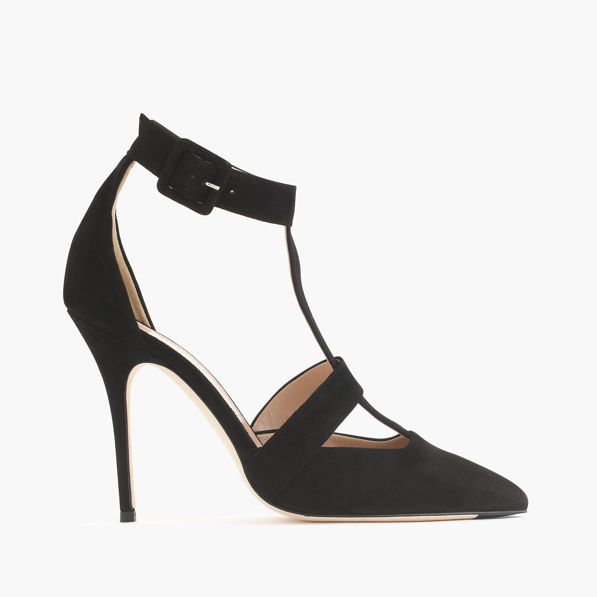 roxie suede t strap pumps in black lyst