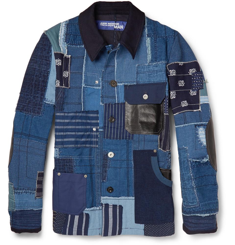 Lyst - Junya Watanabe Denim Patchwork Jacket in Blue for Men