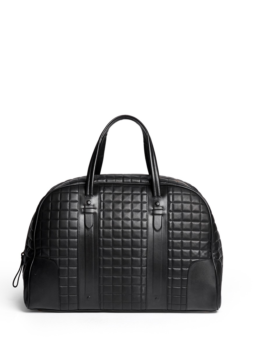Neil barrett 'buenos Aires' Quilt Leather Weekend Bag in Black for ...