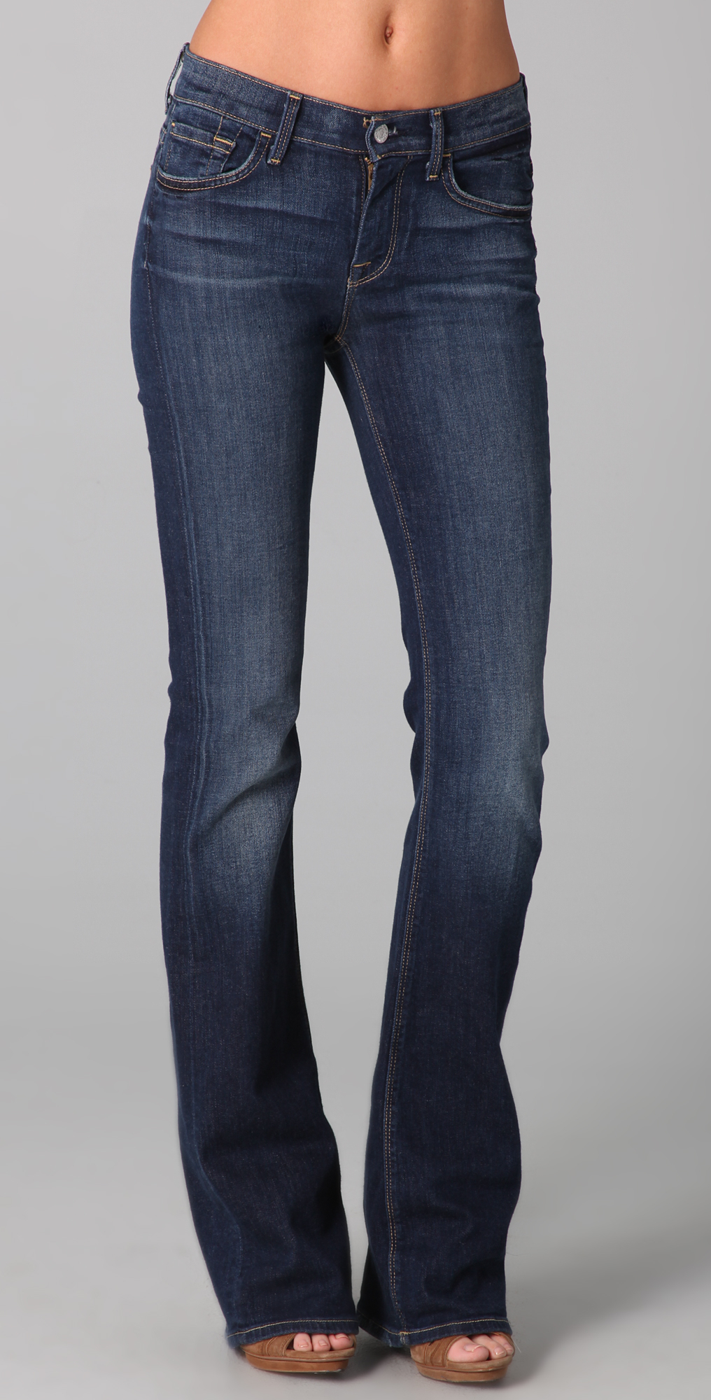 7 for all mankind high waist boot cut jeans in blue lyst. Black Bedroom Furniture Sets. Home Design Ideas