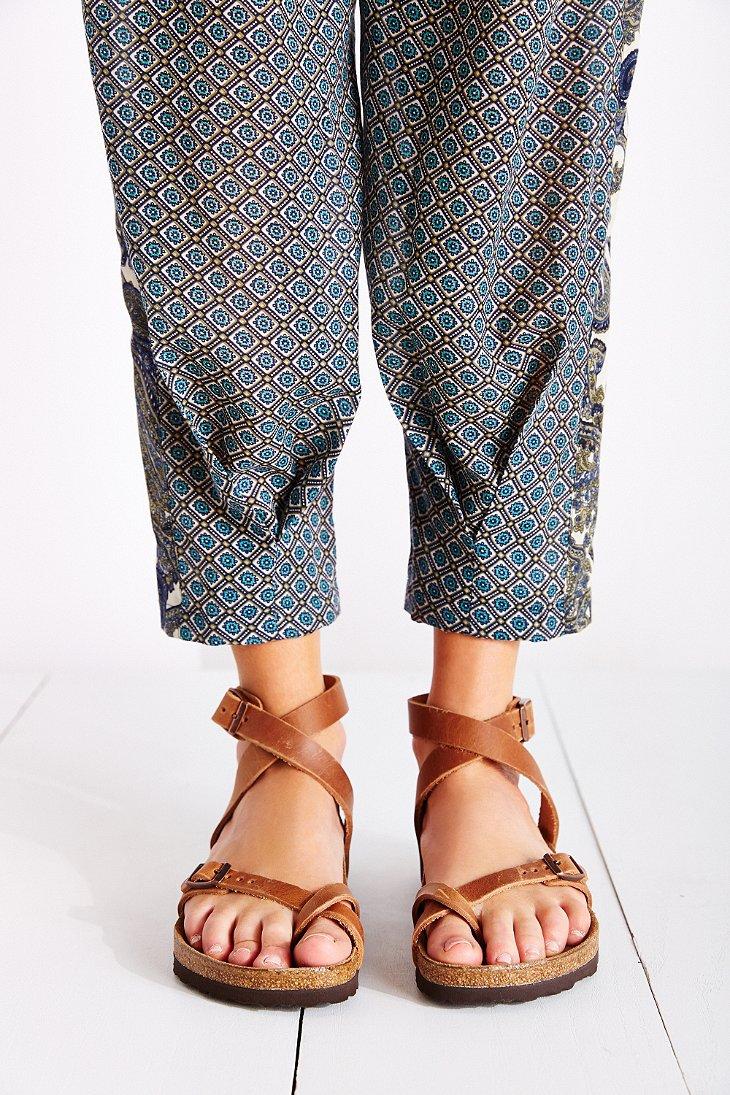 Birkenstock Yara Sandal In Brown Lyst
