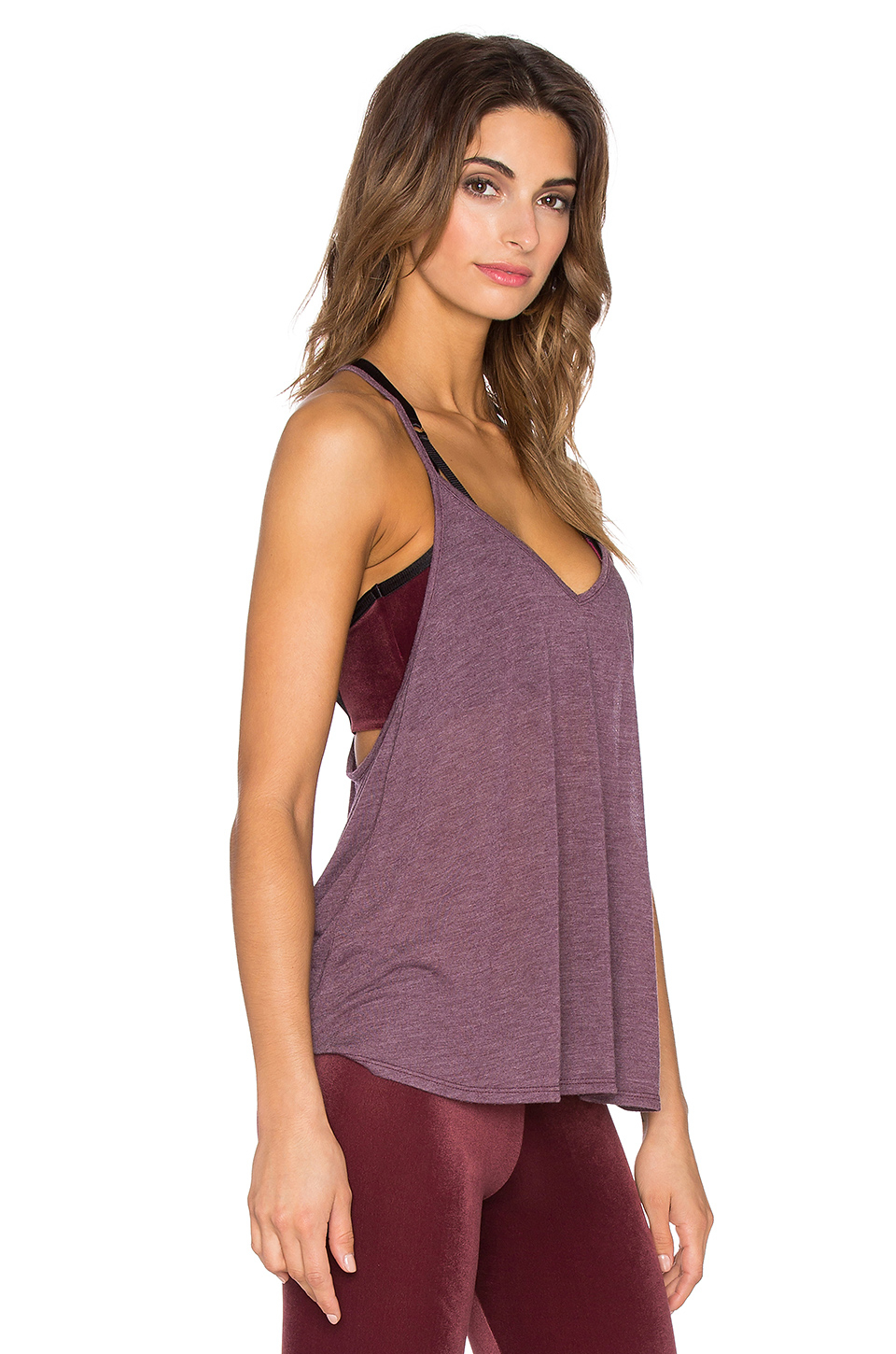 Lyst Blue Life Fit V Neck Tank In Purple