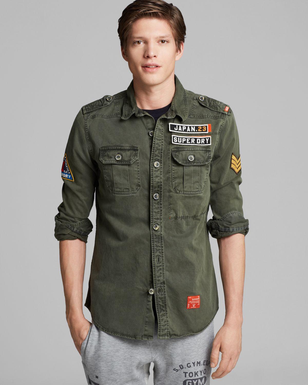 ffa30e25 Superdry Green Delta Long Sleeve Shirt for men