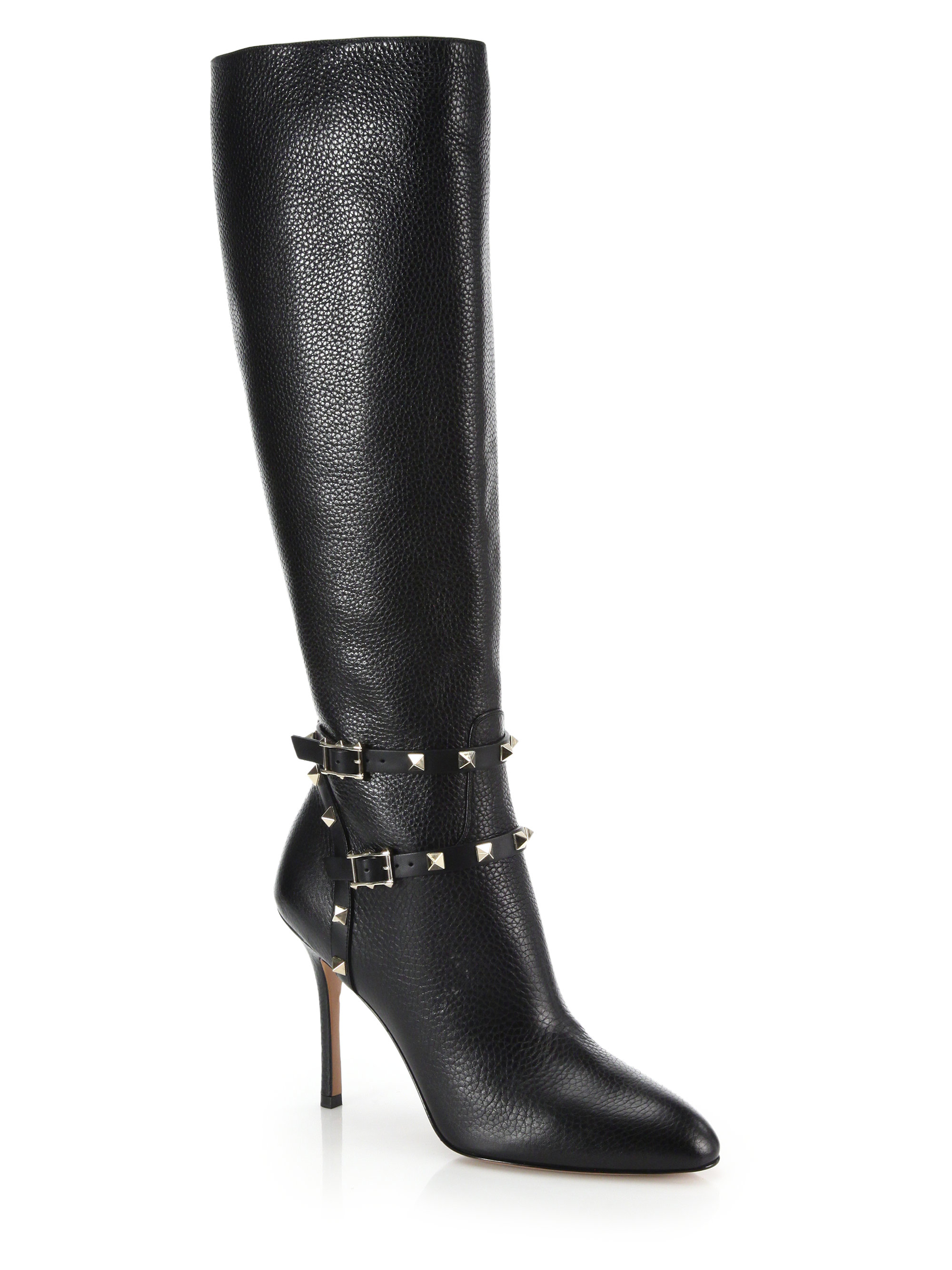 cheap sale websites Valentino Leather Knee-High Boots pre order cheap price cheap sale low price fee shipping geniue stockist for sale qedHzYWmU