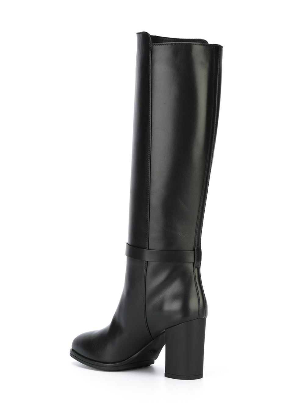 Tod's Leather Mid-Calf Boots in Black