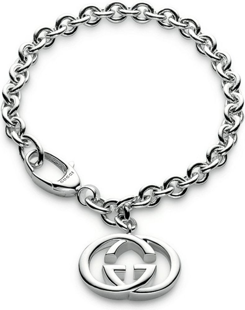 gucci link bracelet for in silver lyst
