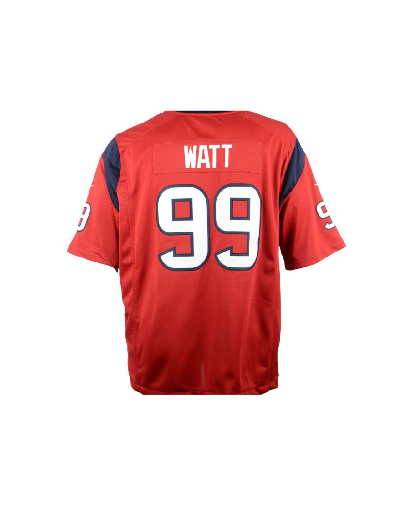 Nike Houston Texans 99 Watt Red Game NFL Jerseys Cheap