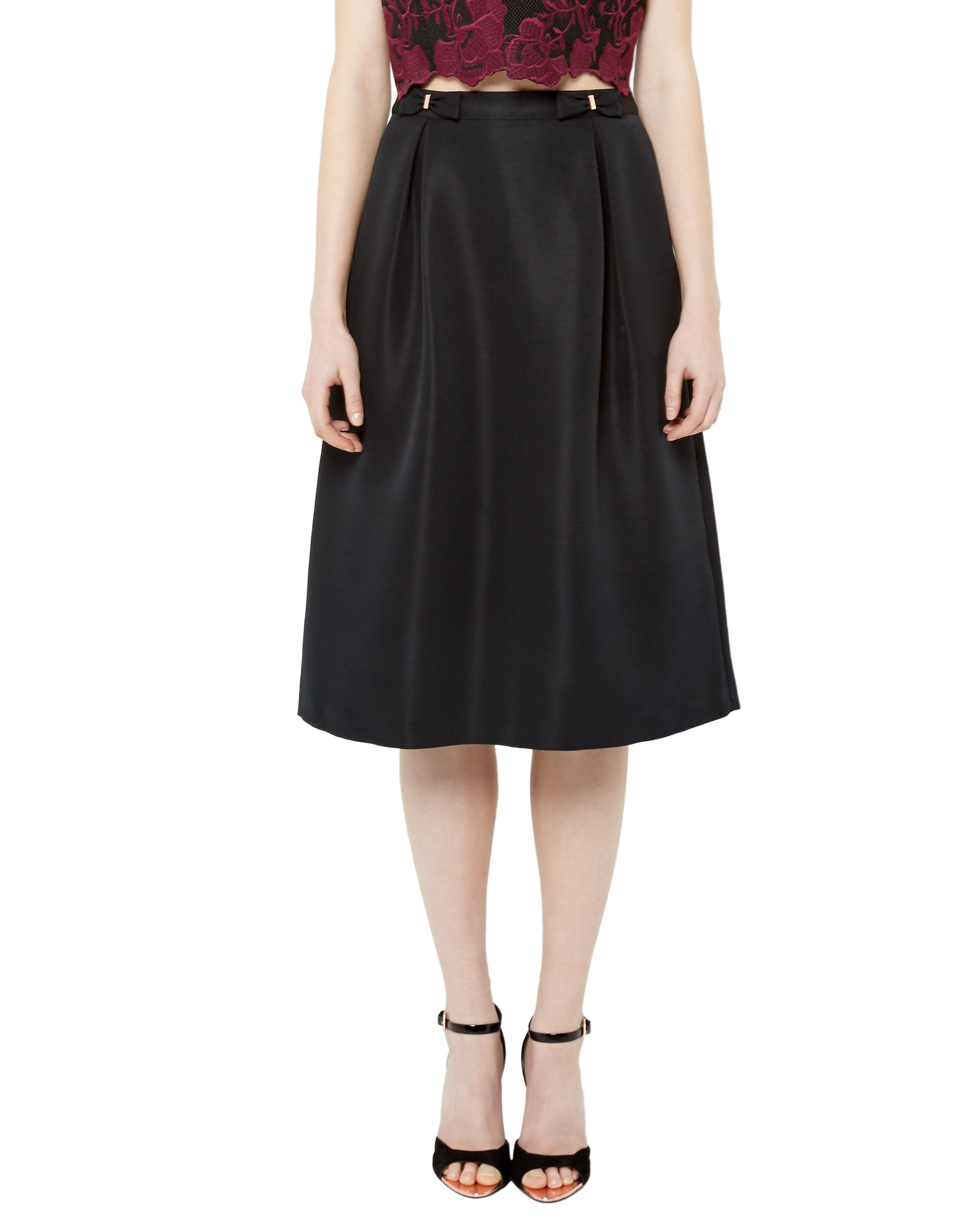 ted baker timana bow midi skirt in black lyst