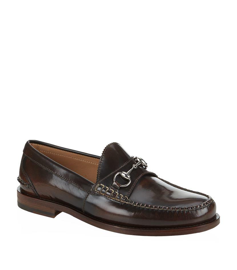 gucci horsebit leather loafer in brown for men lyst. Black Bedroom Furniture Sets. Home Design Ideas