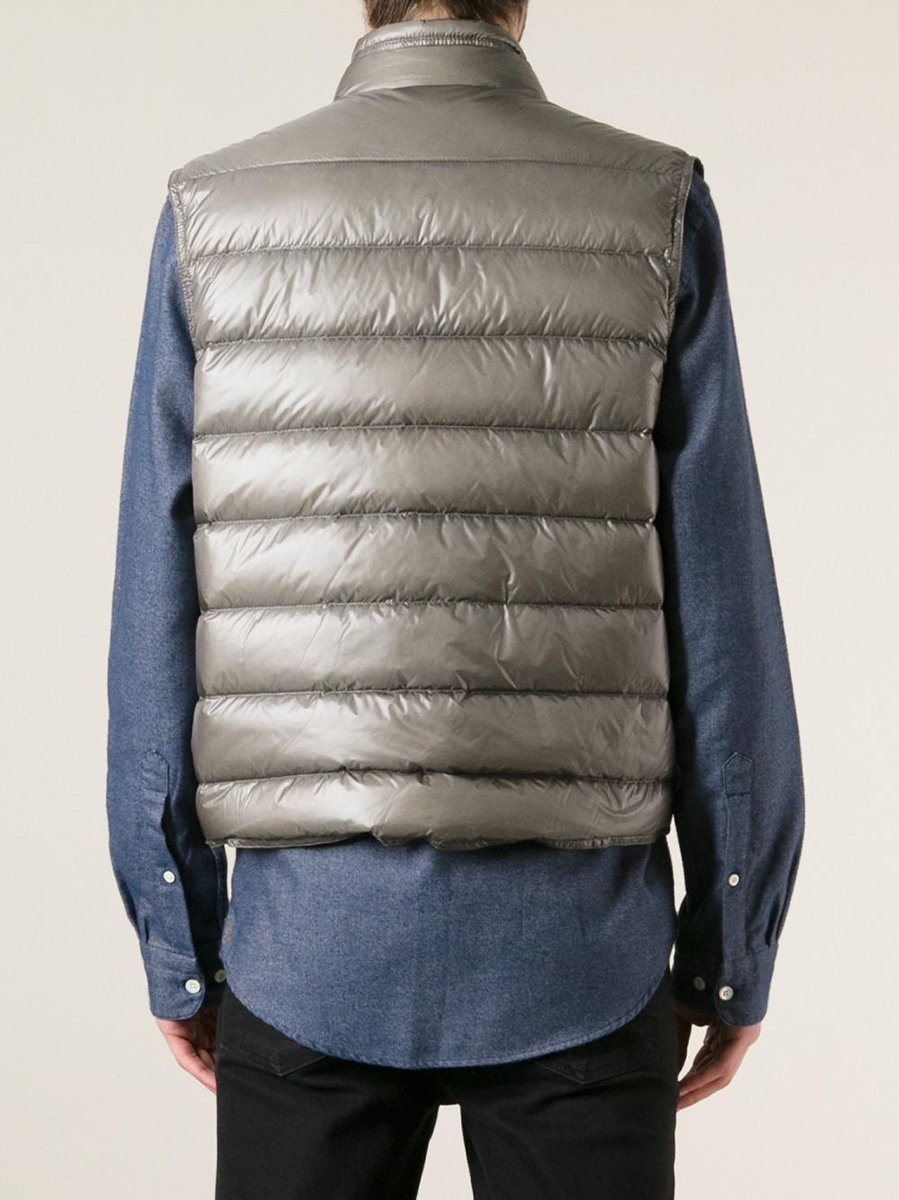 90855e843 Moncler Gray Gui Padded Gilet for men