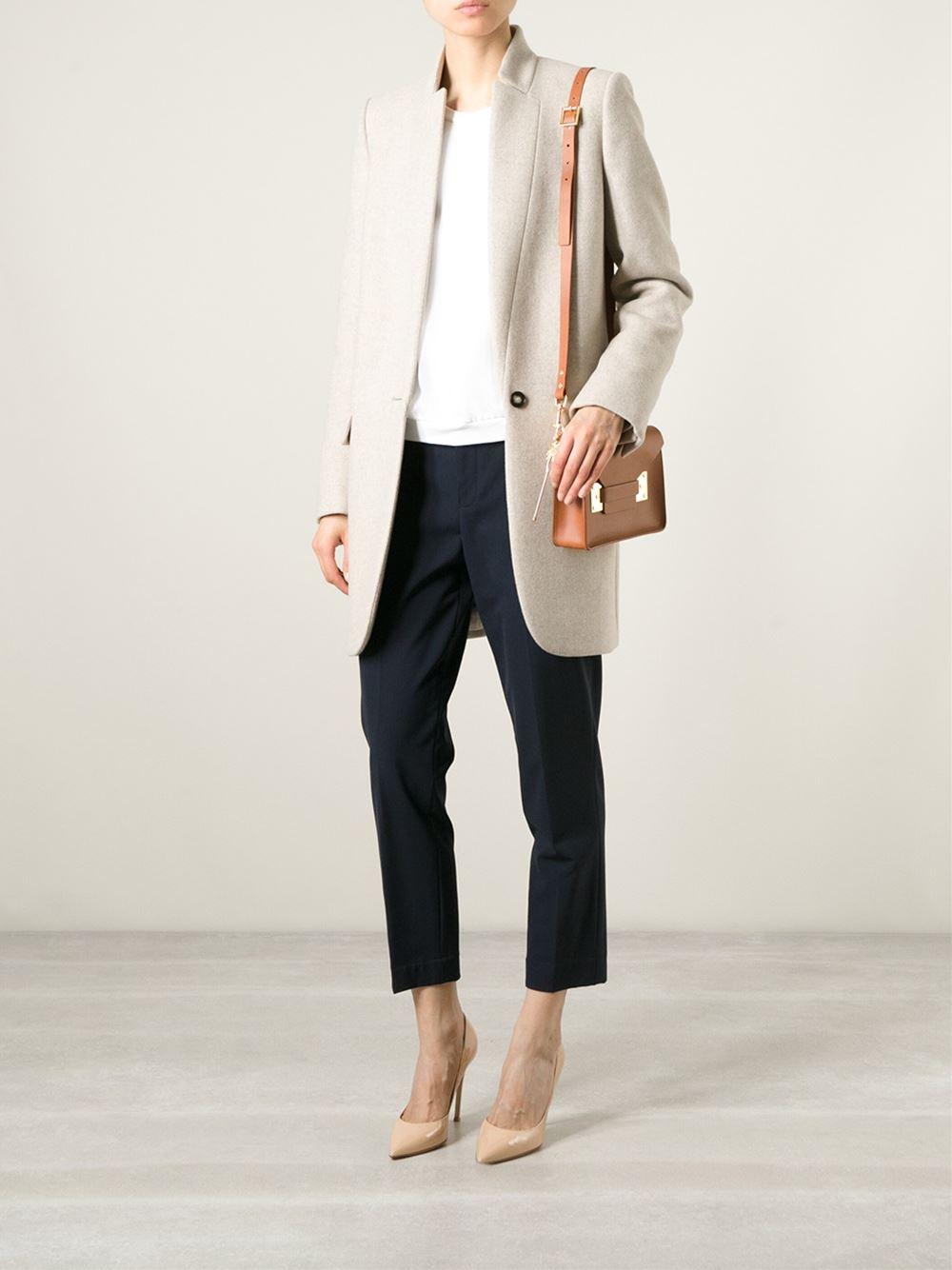 Sophie Hulme Mini Envelope Cross Body Bag In Brown Lyst