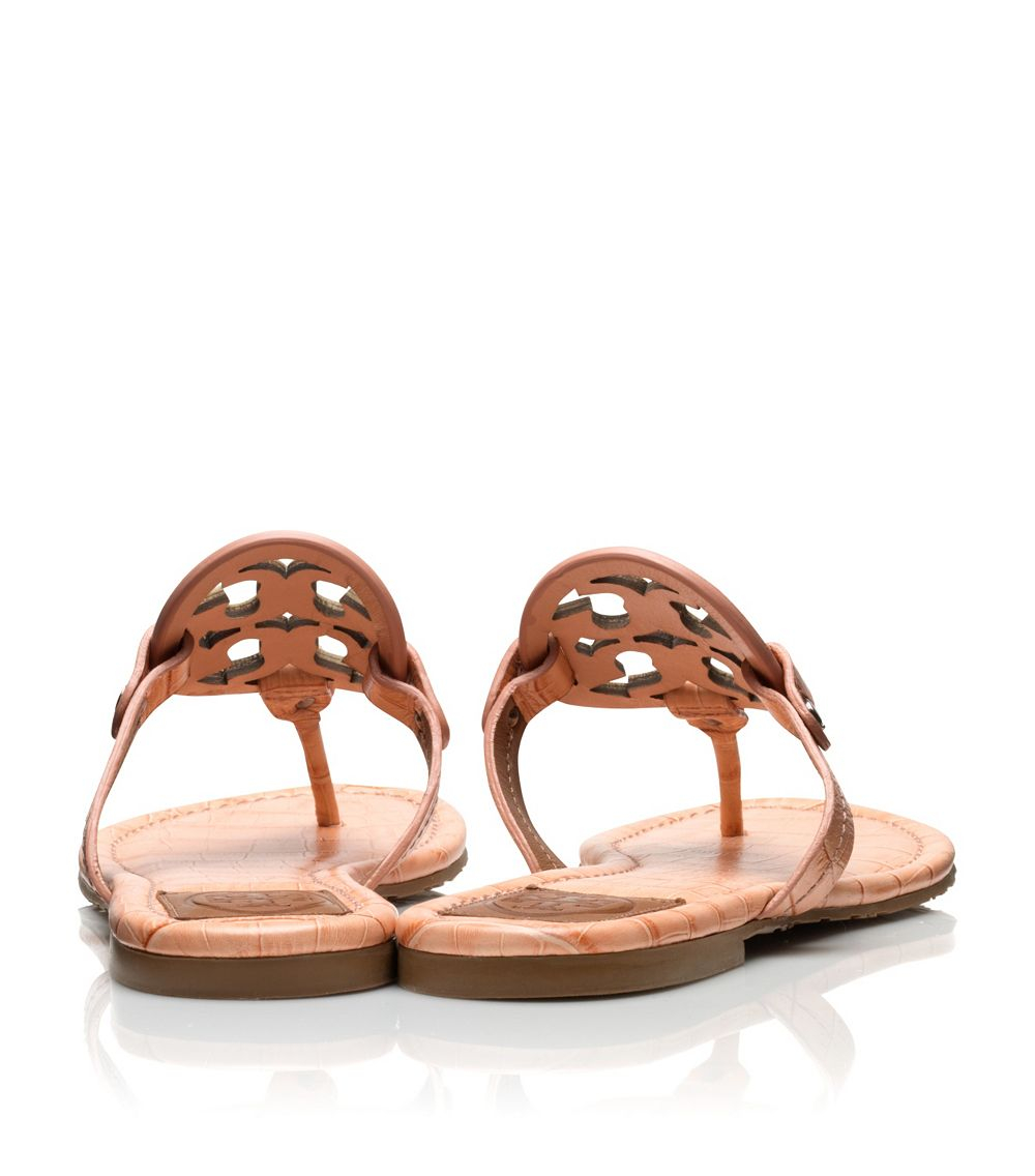 03c938ba5 Lyst - Tory Burch Miller Croc-Print Sandal in Metallic