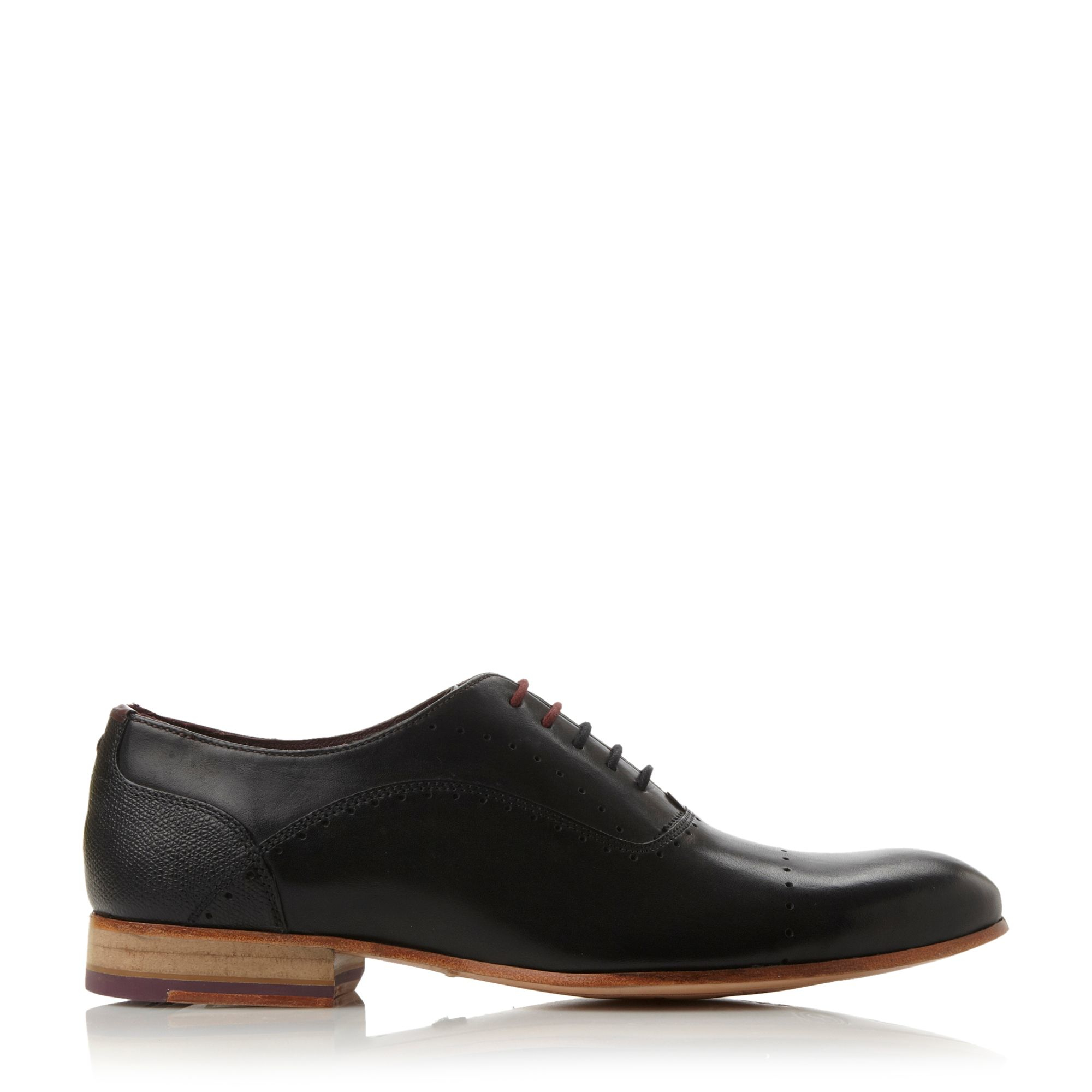 ted baker anthonii lace up formal oxford shoes in black