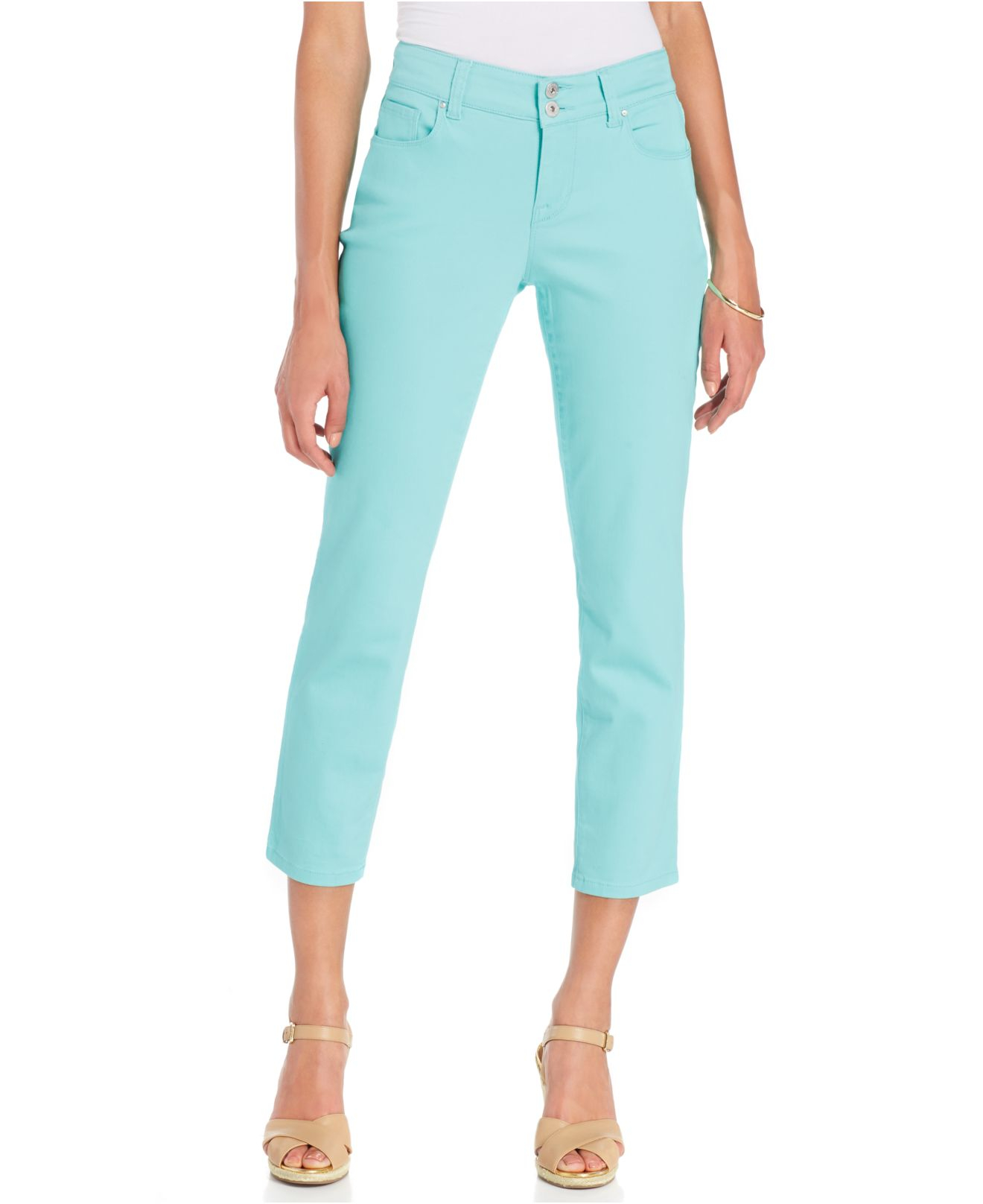 Curvy Fit Capri Pants - Pant Row