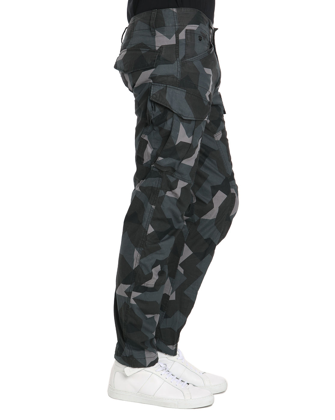 g star raw rovic zip 3d tapered camo cargo trousers in green for men camo lyst. Black Bedroom Furniture Sets. Home Design Ideas