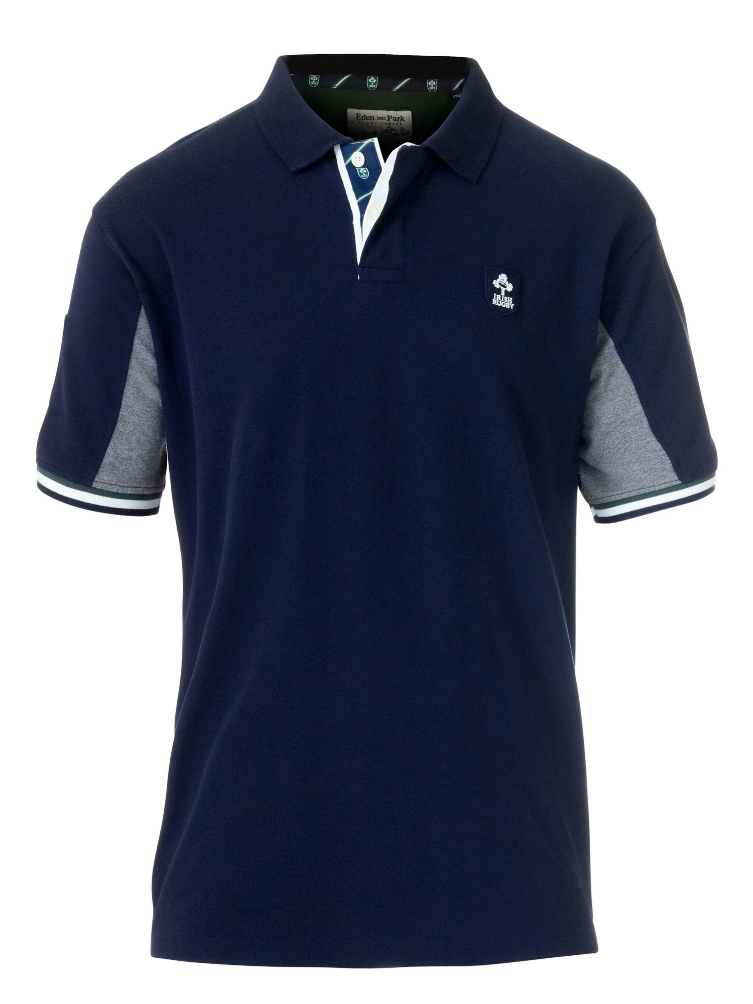 eden park navy color rugby polo t shirt in blue for men lyst