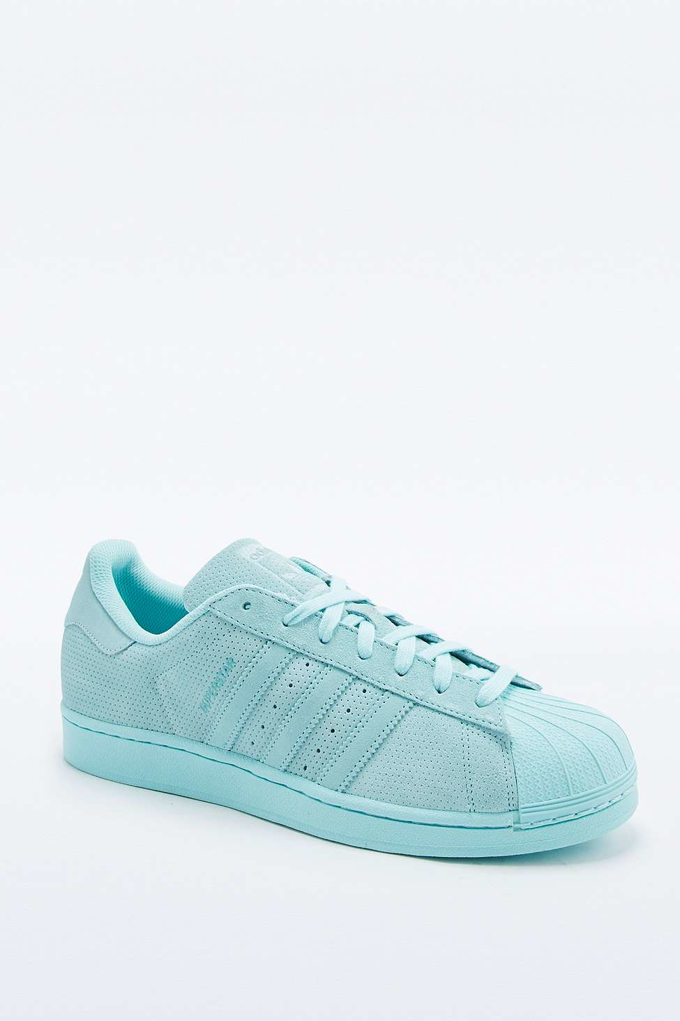 competitive price 68638 ff5d7 adidas Originals Superstar Rt Monotone Aqua Suede Trainers in Blue ...