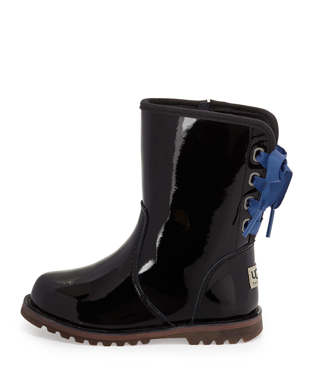 9de6e2f0293 UGG Black Corene Patent-Leather Ankle Boots