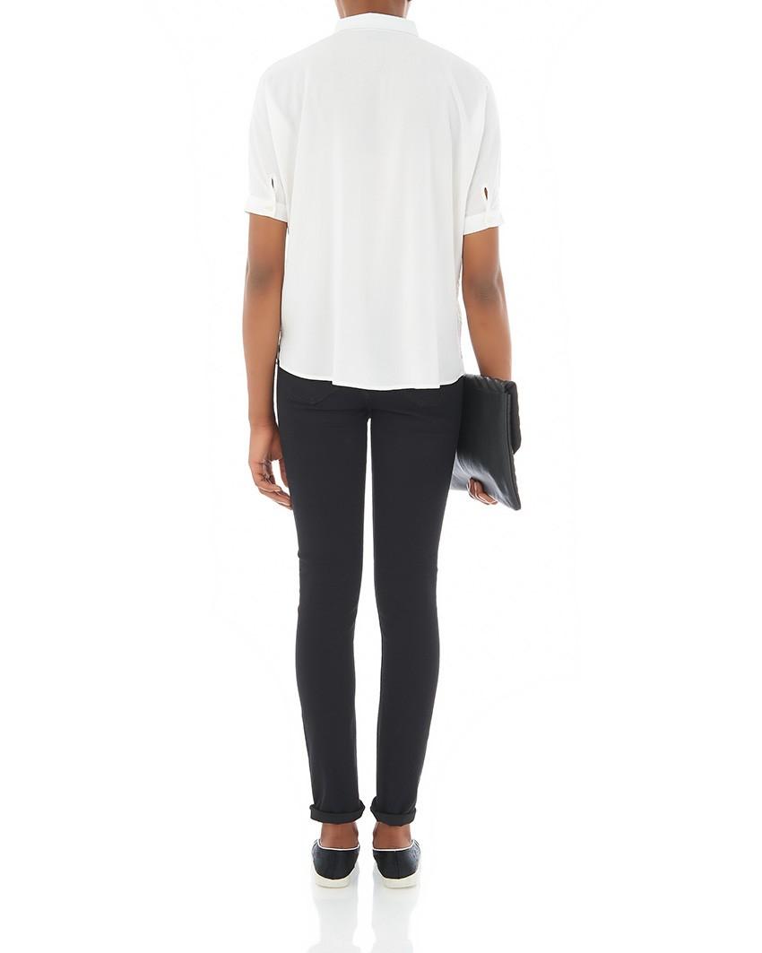 levi 39 s levi 39 s revel slight curve skinny jean in black lyst. Black Bedroom Furniture Sets. Home Design Ideas