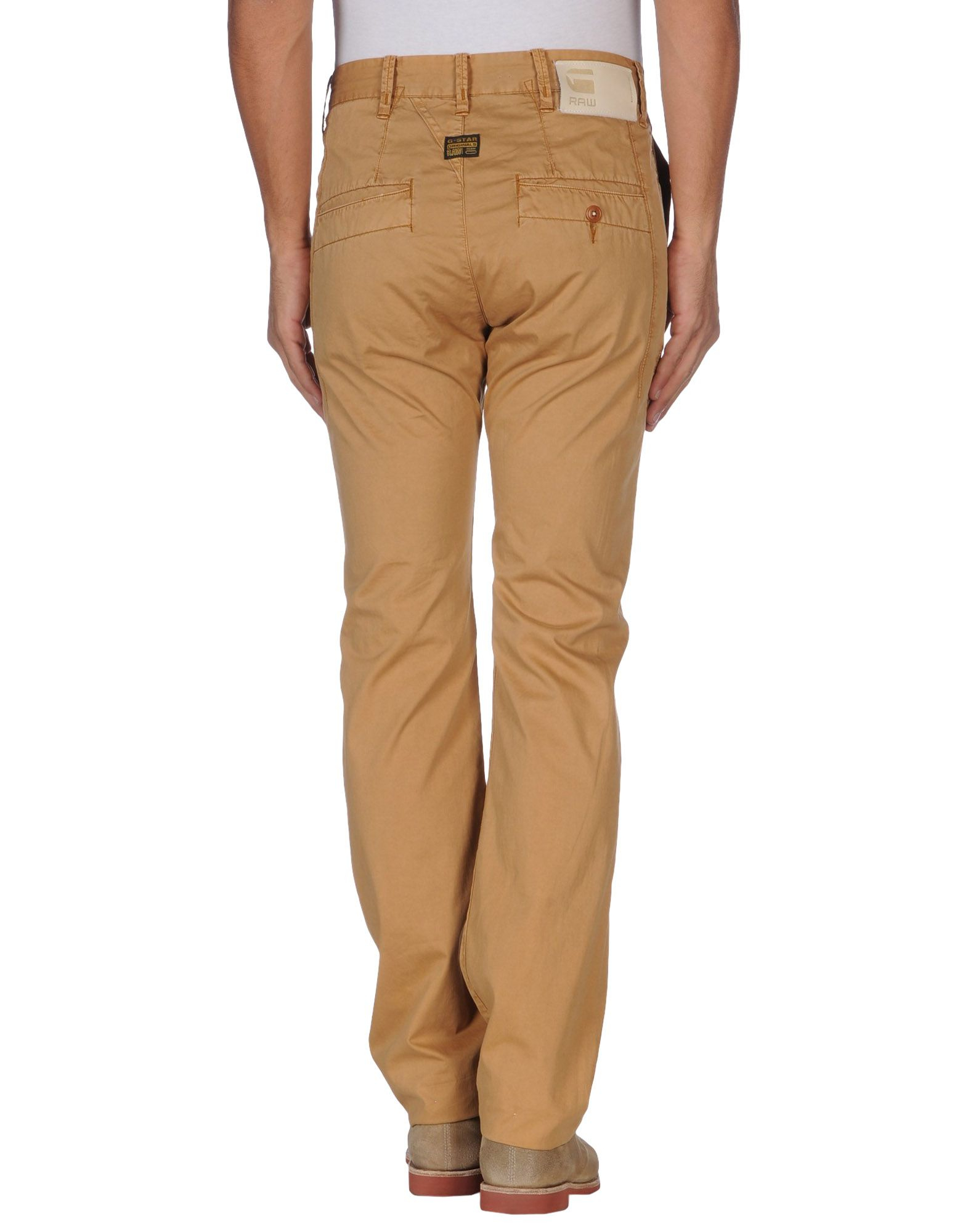 g star raw casual trouser in beige for men camel lyst. Black Bedroom Furniture Sets. Home Design Ideas