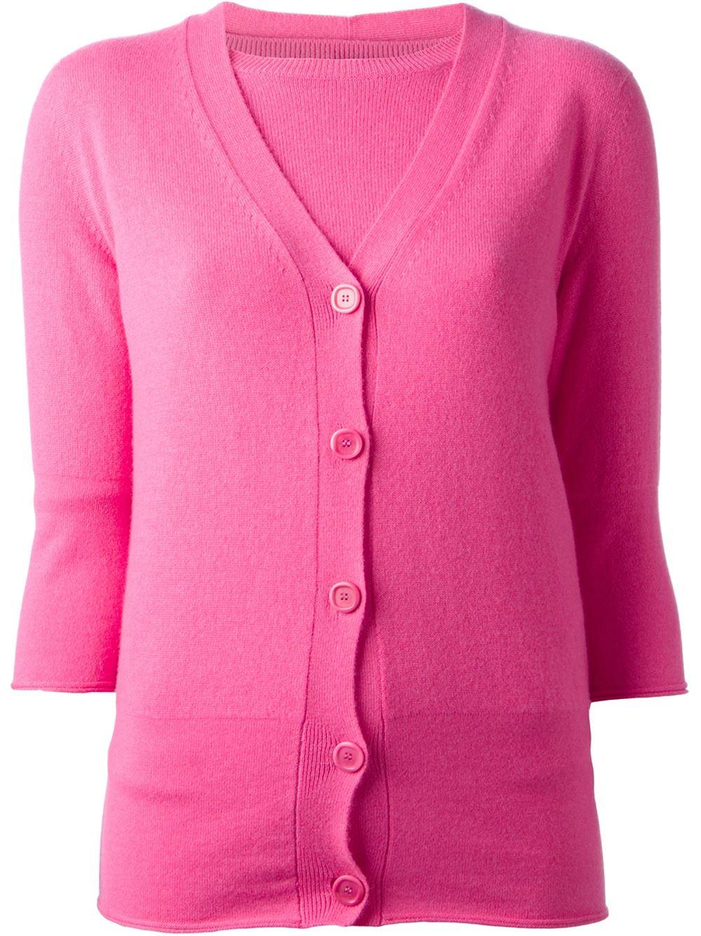 Women'S Pink Cardigan Sweater 82
