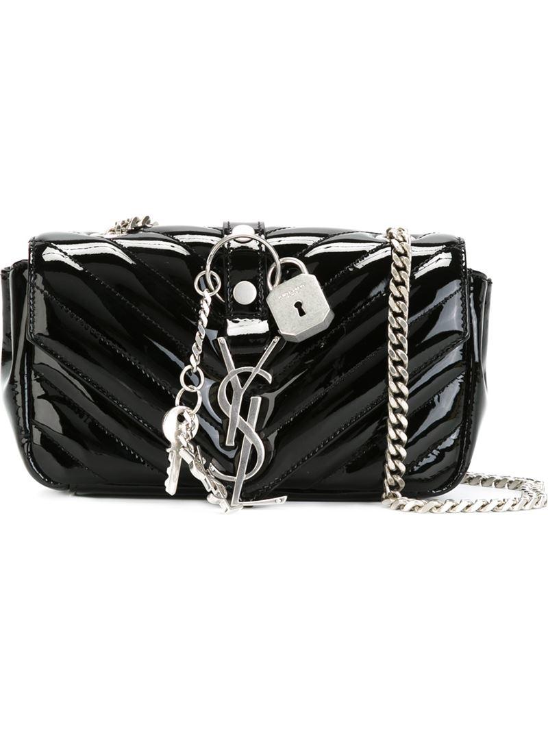 84185e5486d9 Monogram College Large Chain Satchel Bag Black Womens Saint
