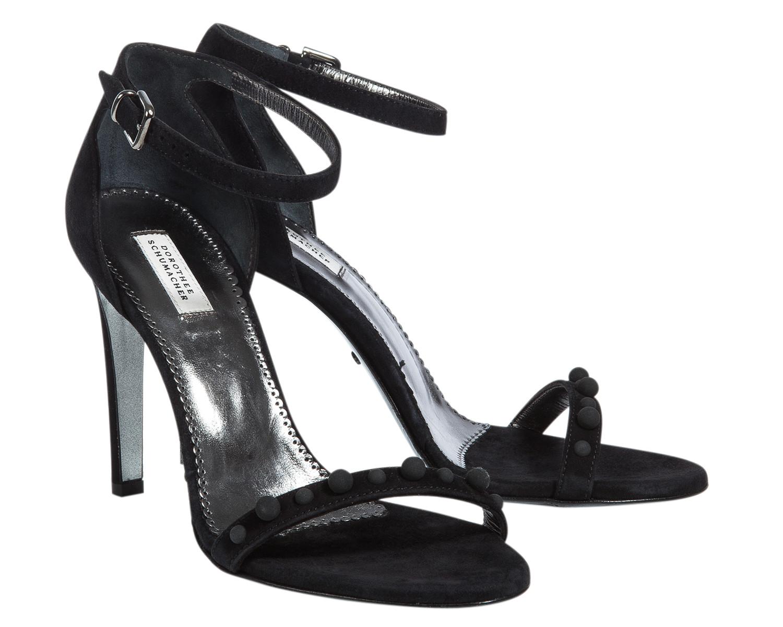 dorothee schumacher embellished edge sandal 9cm in black lyst. Black Bedroom Furniture Sets. Home Design Ideas