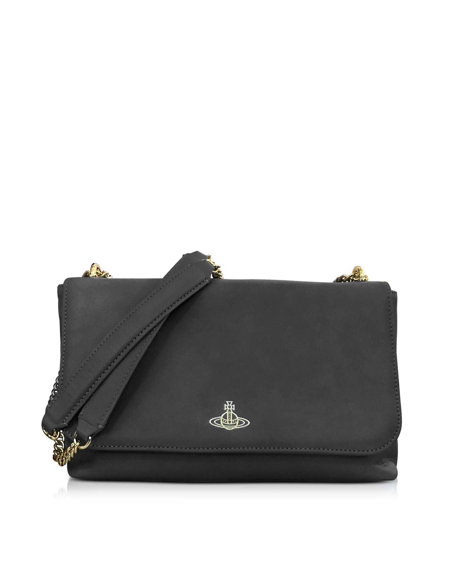 c3b428c70c6c Lyst - Vivienne Westwood Spencer Black Leather Shoulder Bag in Black