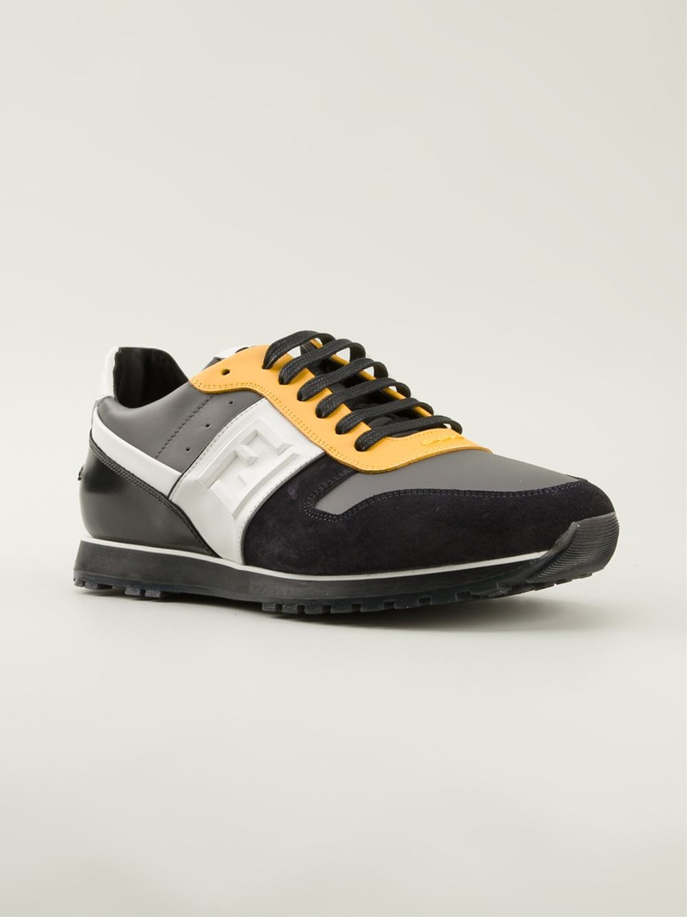fendi low sneakers in yellow for lyst