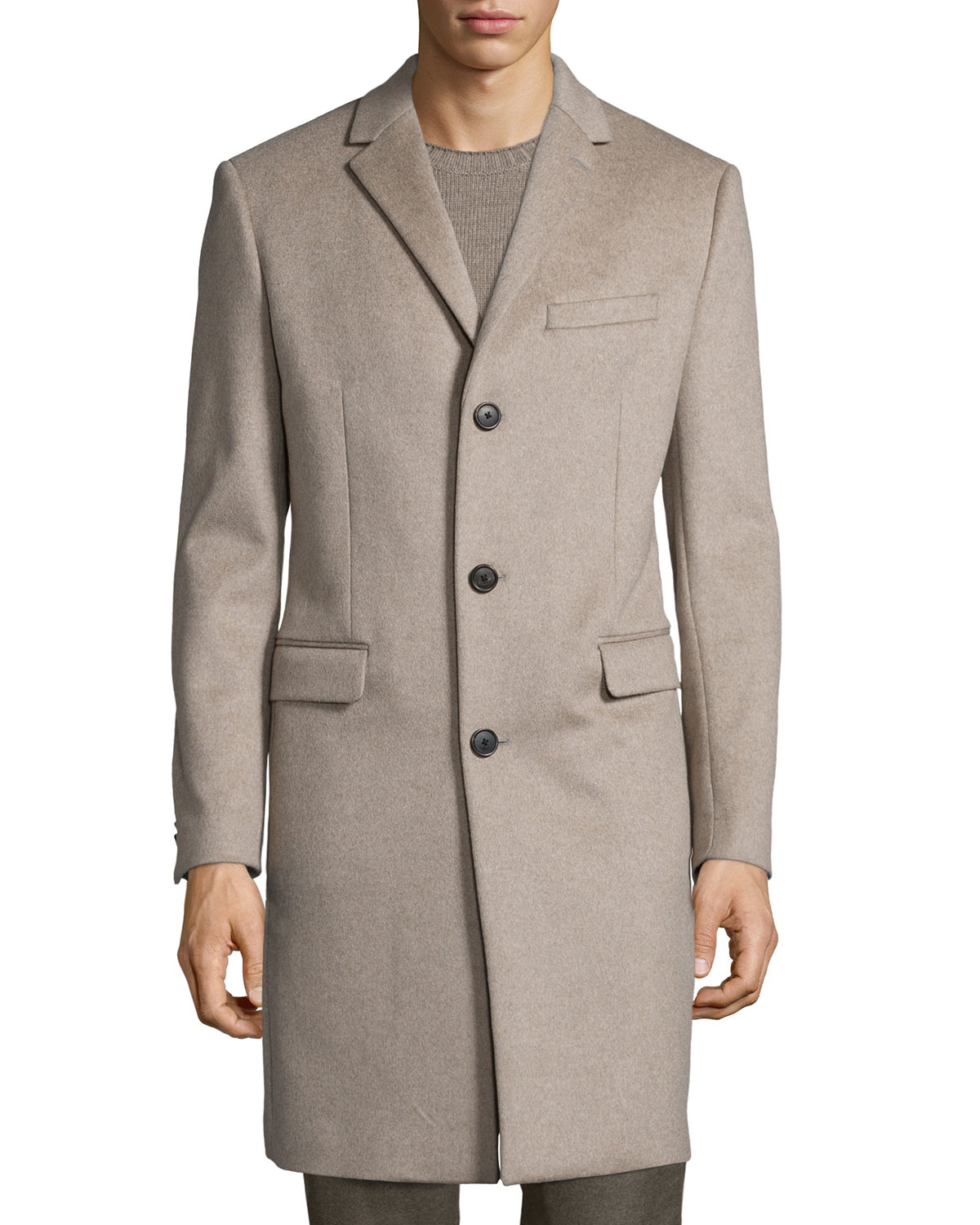 Theory Wellardon Three-button Car Coat in Natural for Men | Lyst