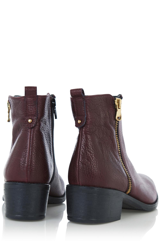 9f49aa307205 Oasis Zip Side Ankle Boots in Purple - Lyst