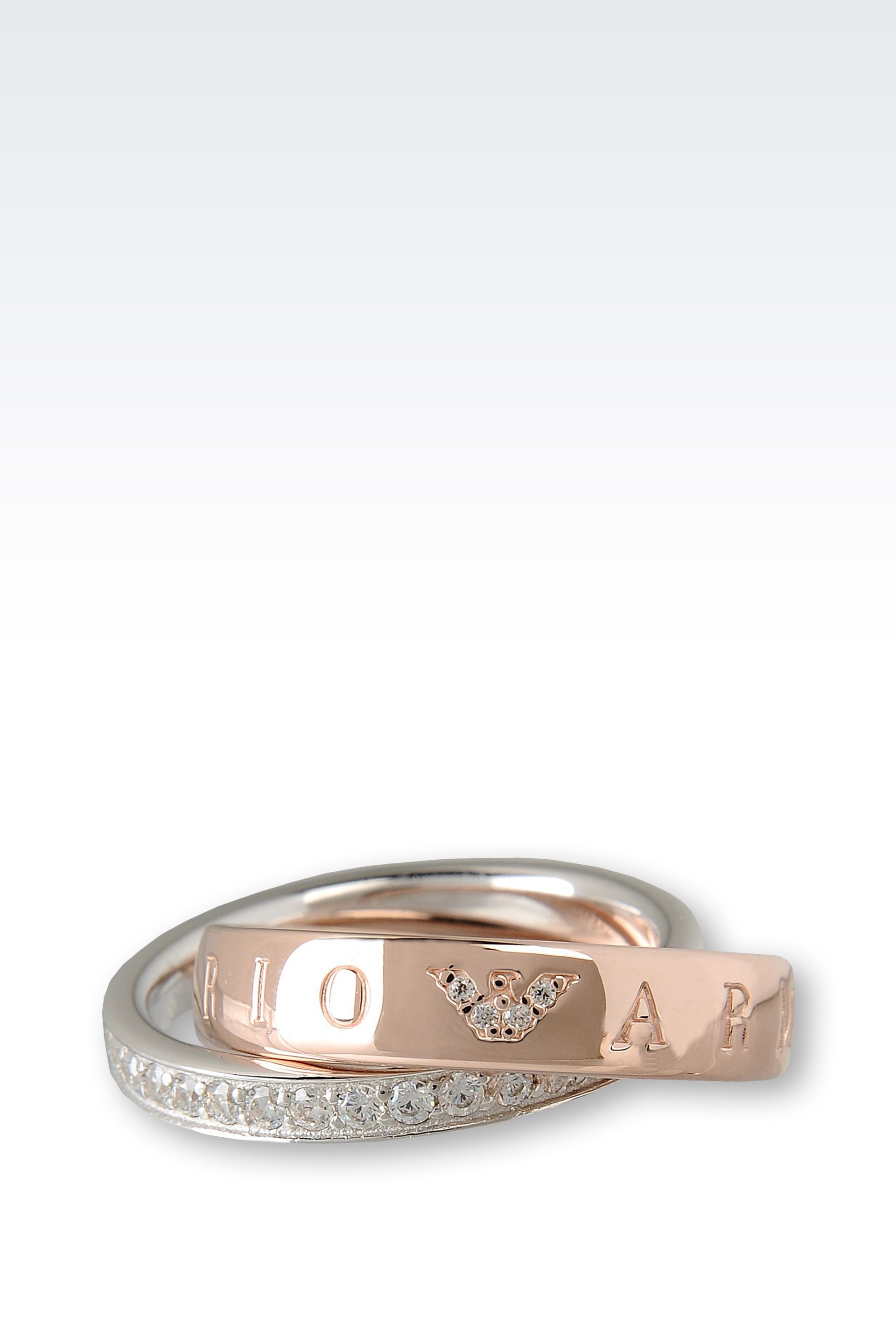Lyst Emporio Armani Ring in Pink for Men