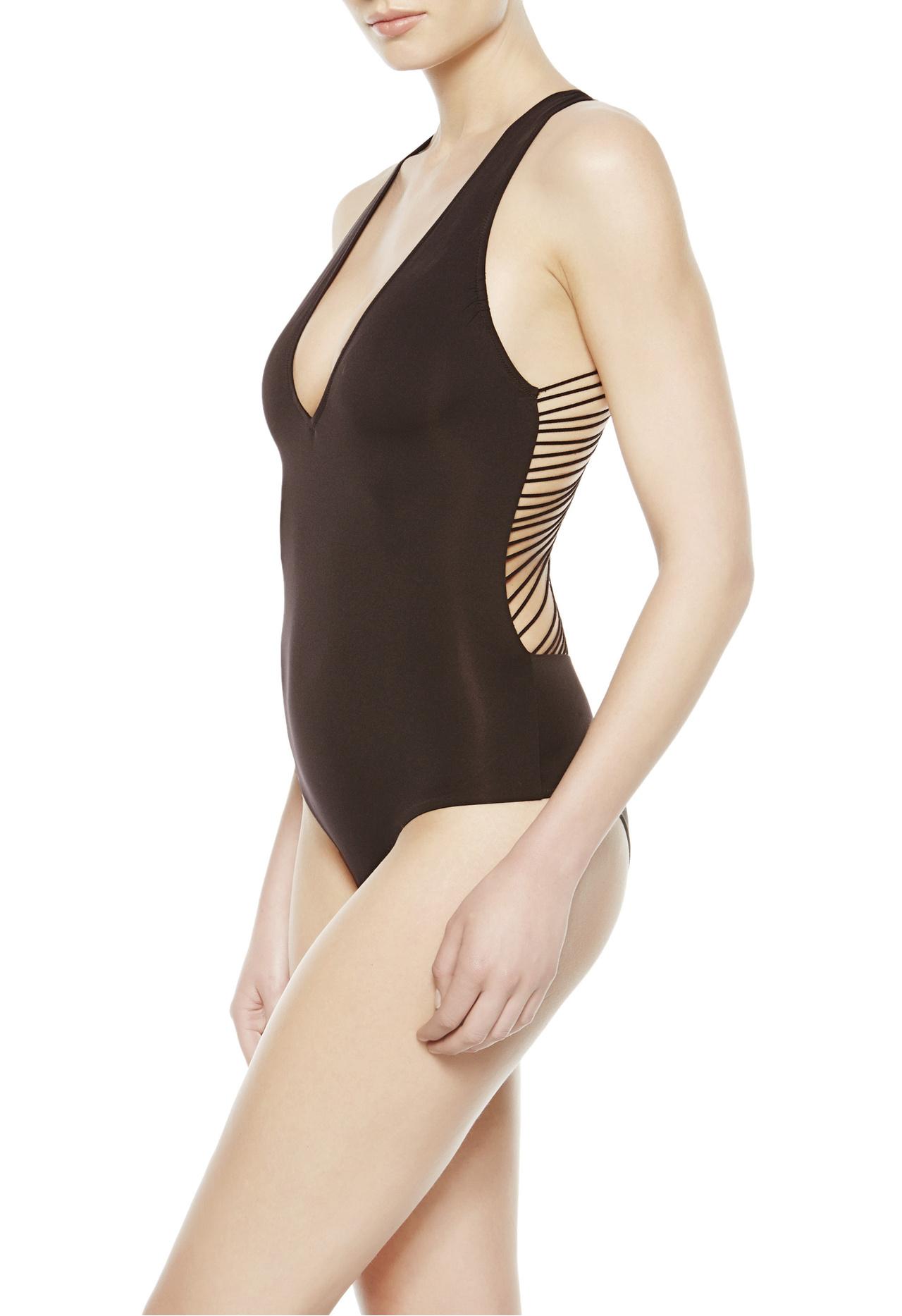 La Perla 2014 Fall Winter Lingerie Campaign Photos: La Perla Non-wired Swimsuit In Black