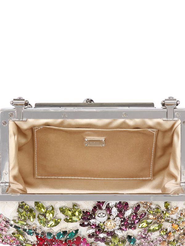 Lyst - Dolce   Gabbana Sara Lace Beaded Swarovski Clutch in Pink dd76520e2bcd9