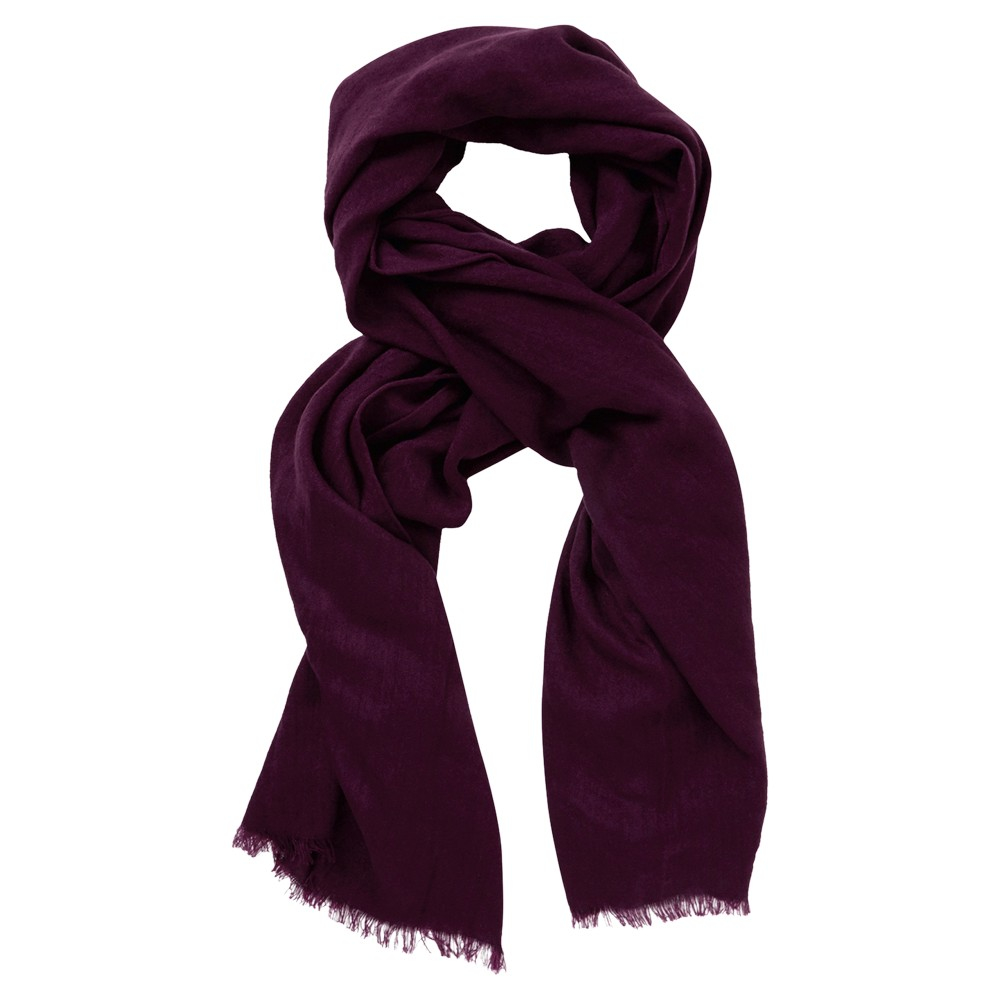 oasis textured acrylic scarf in purple lyst
