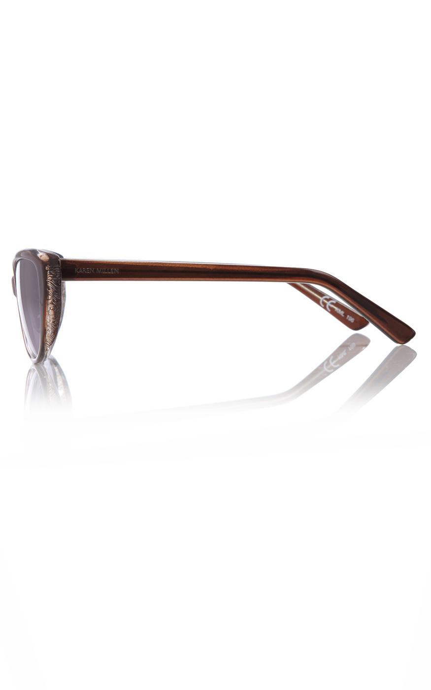 Karen Millen Cat Eye Sunglasses in Brown