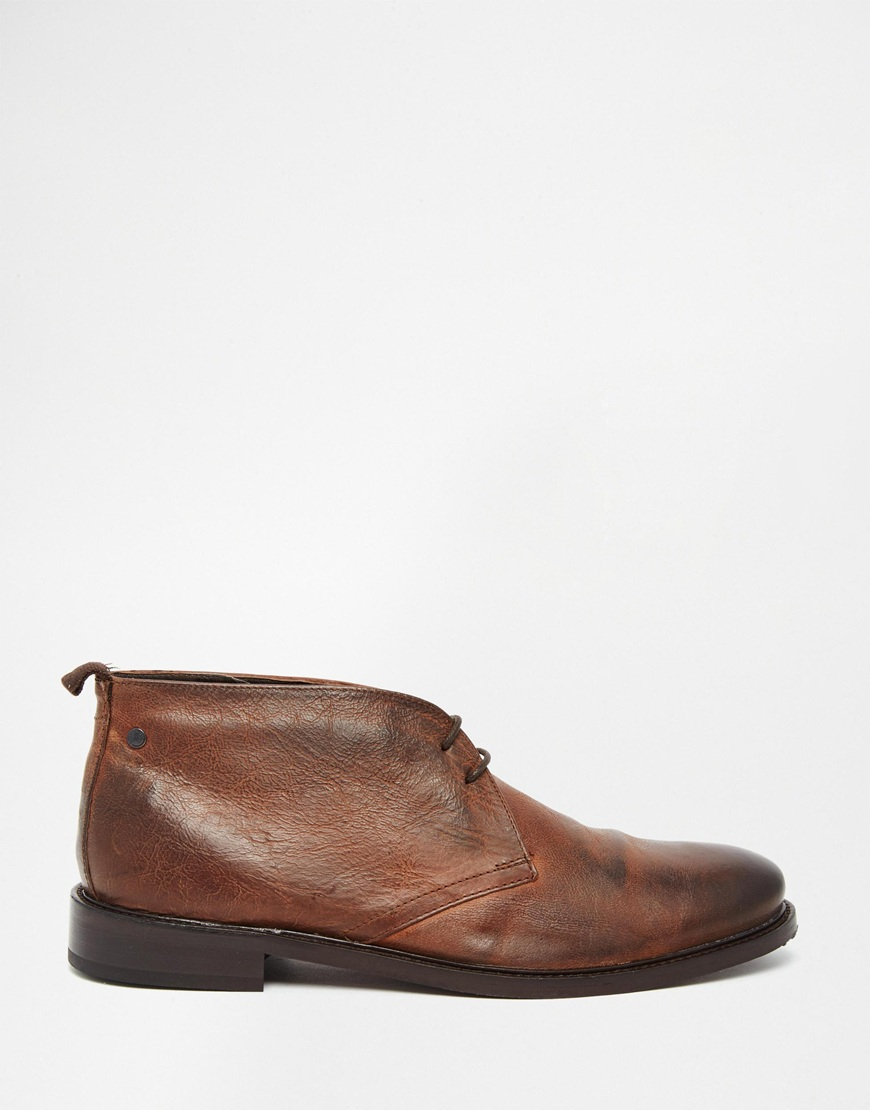 base roop leather chukka boots in brown for lyst