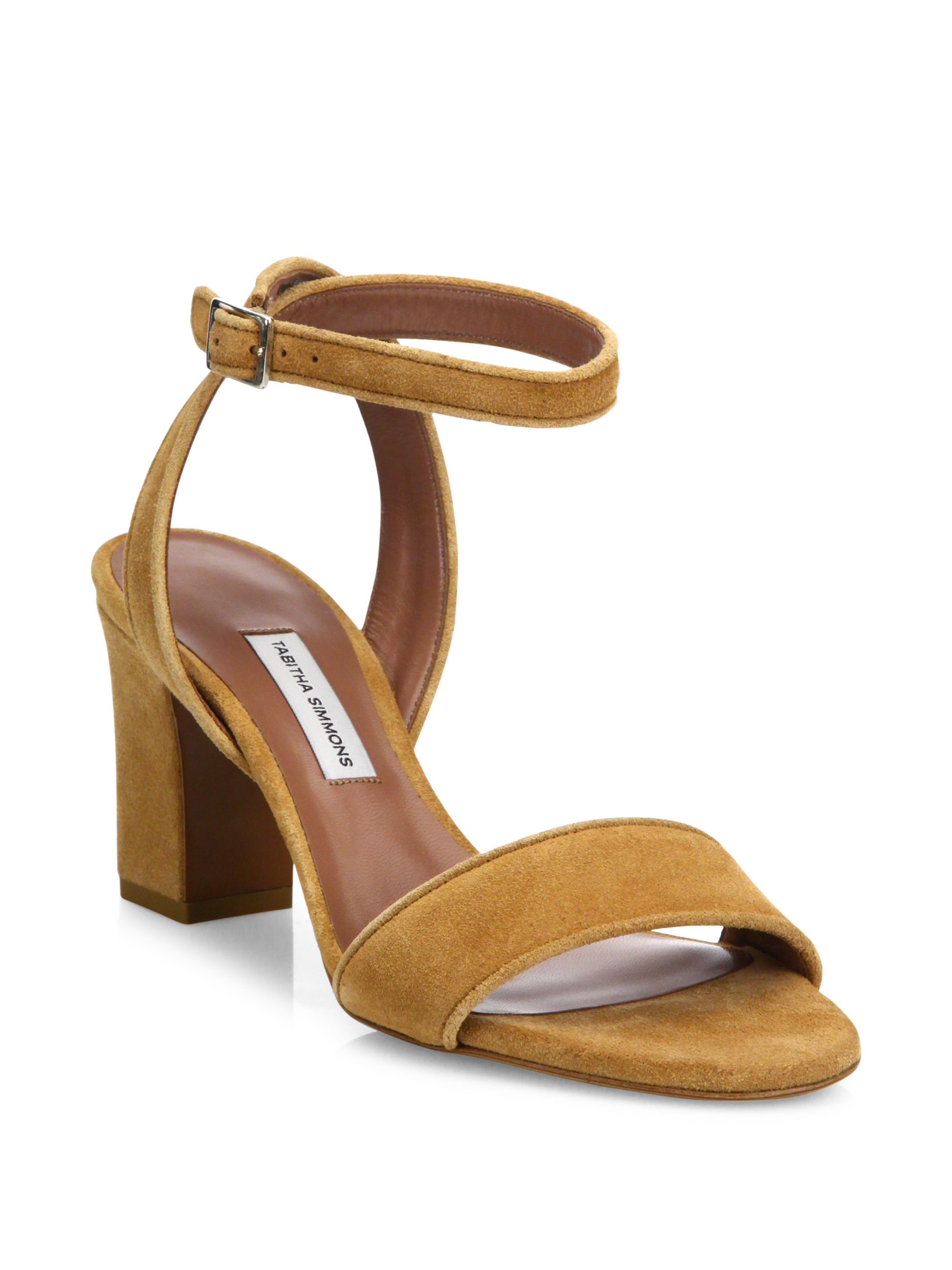 Lyst Tabitha Simmons Leticia Suede Block Heel Sandals In